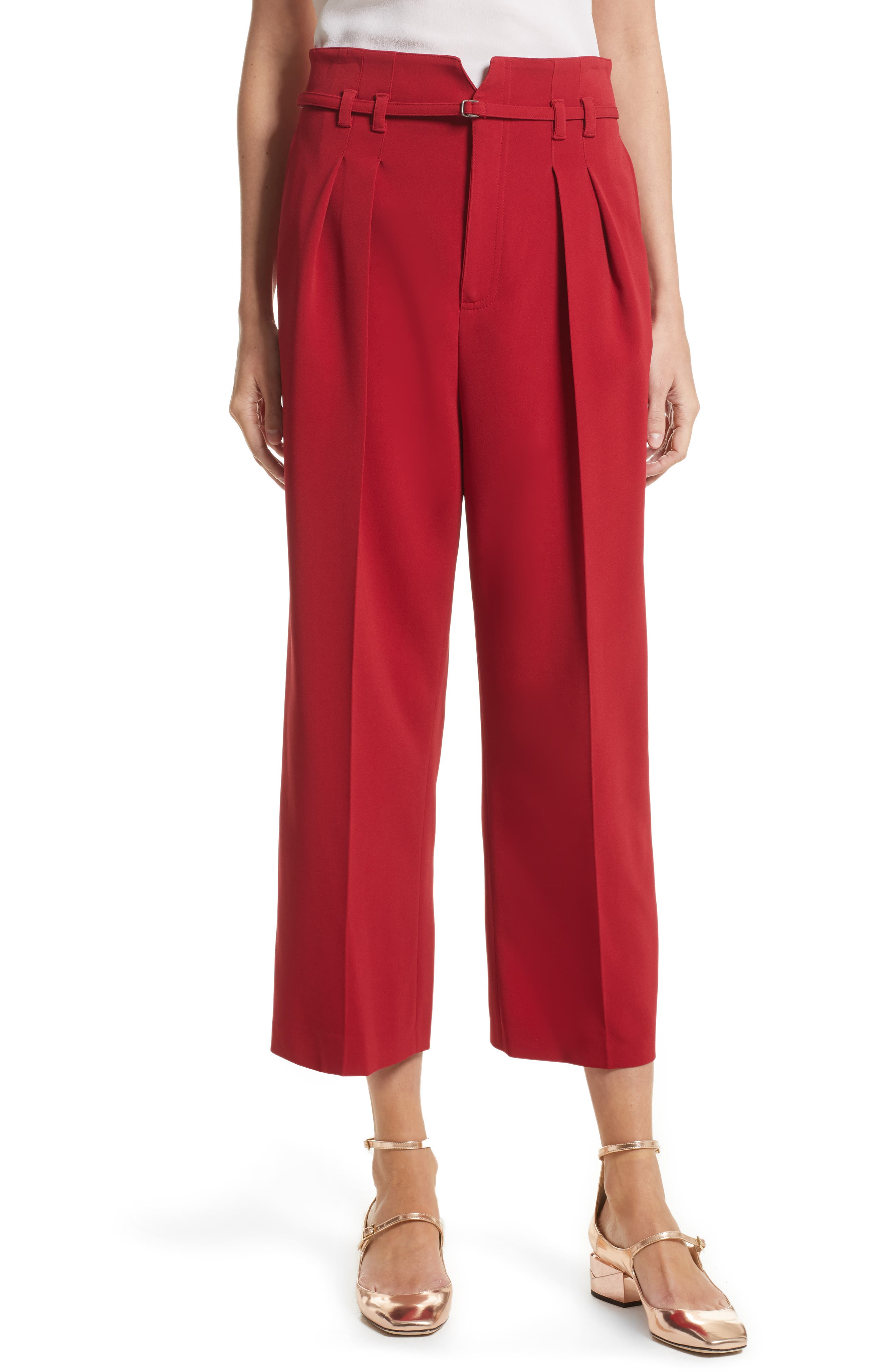 Stretch Crop Pants,                             Main thumbnail 1, color,                             Lacca