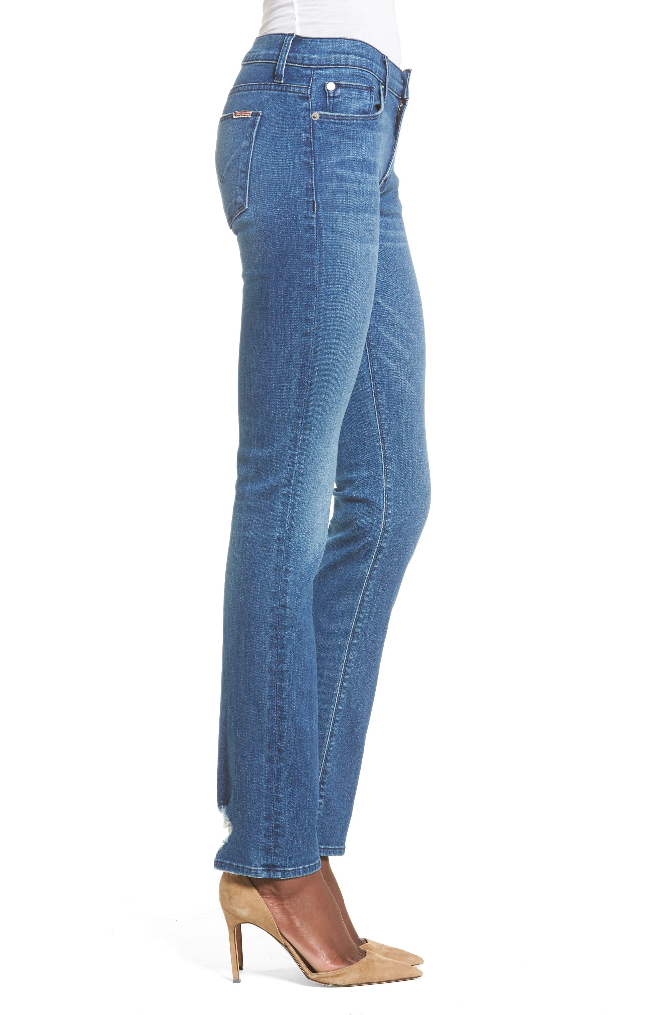 Tilda Cigarette Leg Jeans,                             Alternate thumbnail 3, color,                             Blue Riot