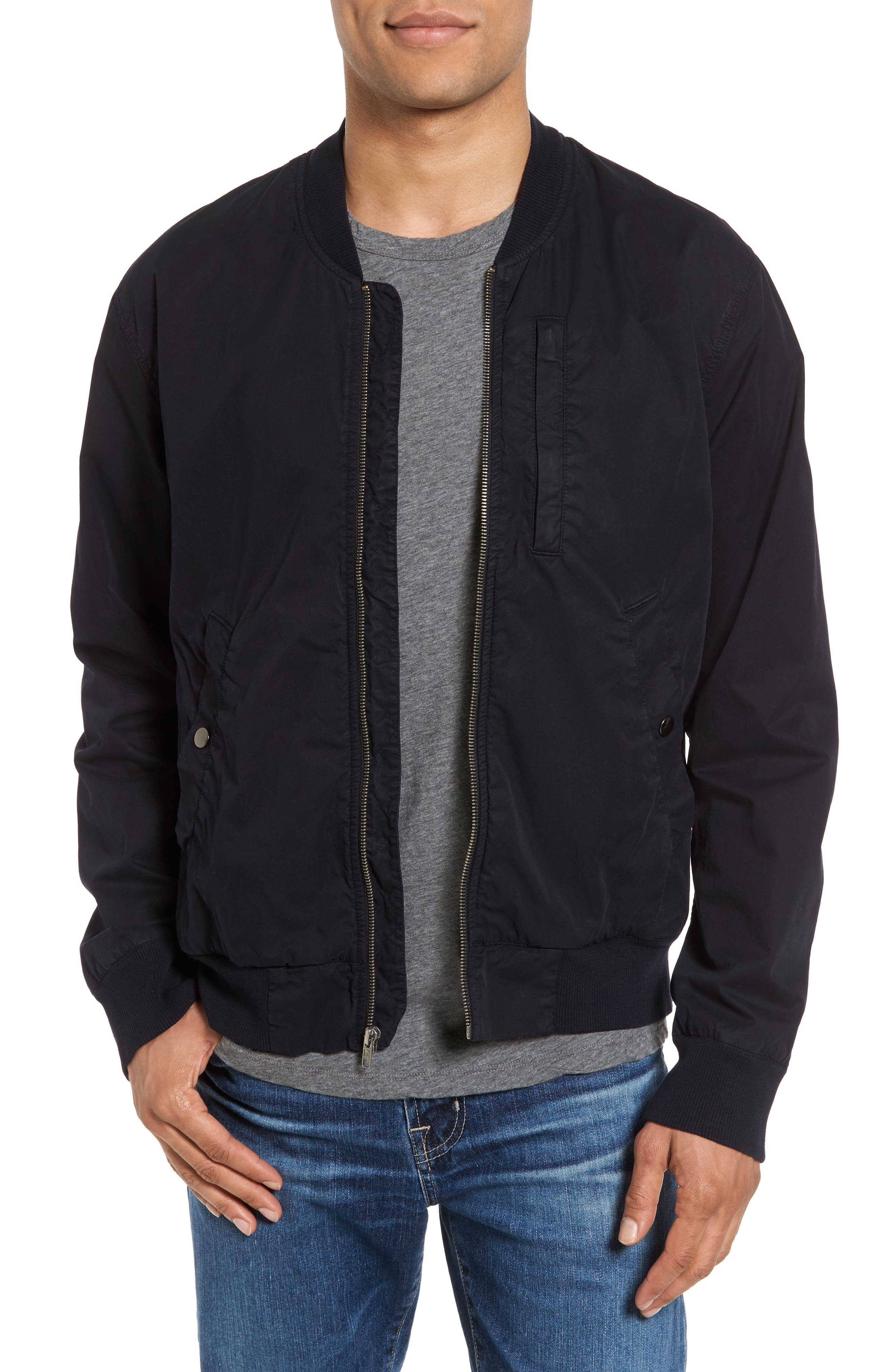 Cotton Bomber Jacket,                         Main,                         color, French Navy