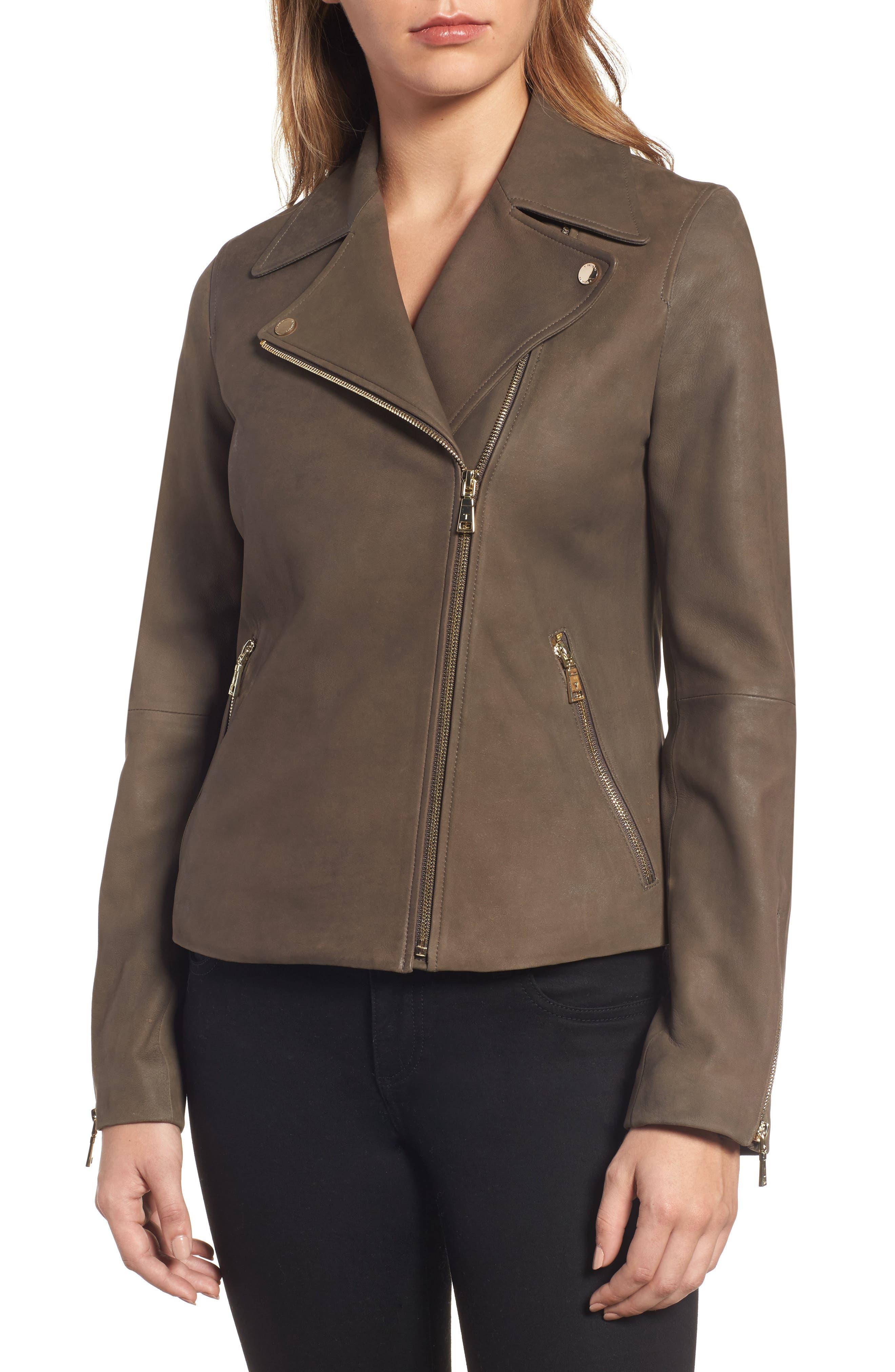 Alternate Image 4  - Tahari Skylar Leather Moto Jacket