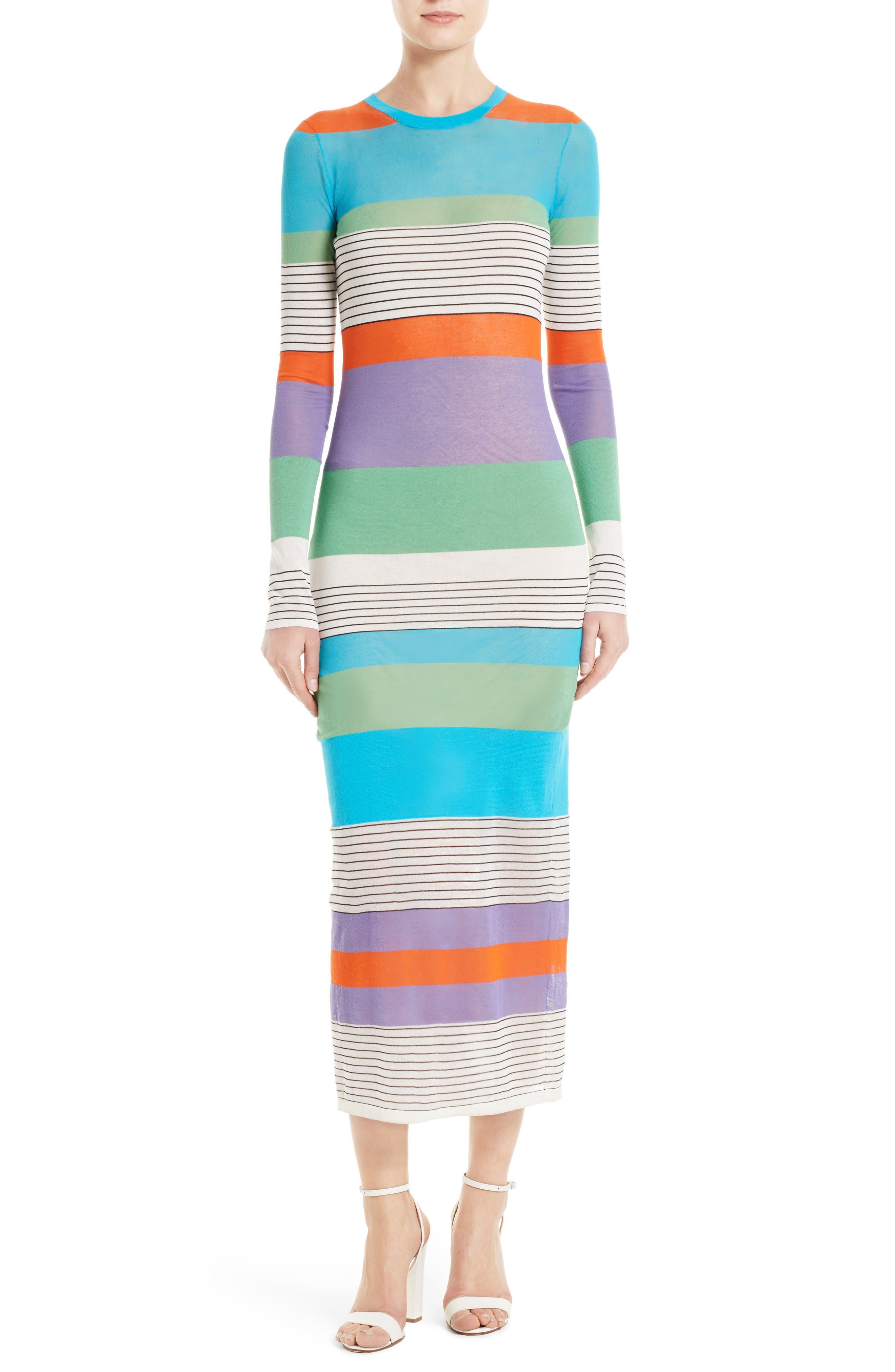 Main Image - Diane von Furstenberg Colorblock Knit Midi Dress