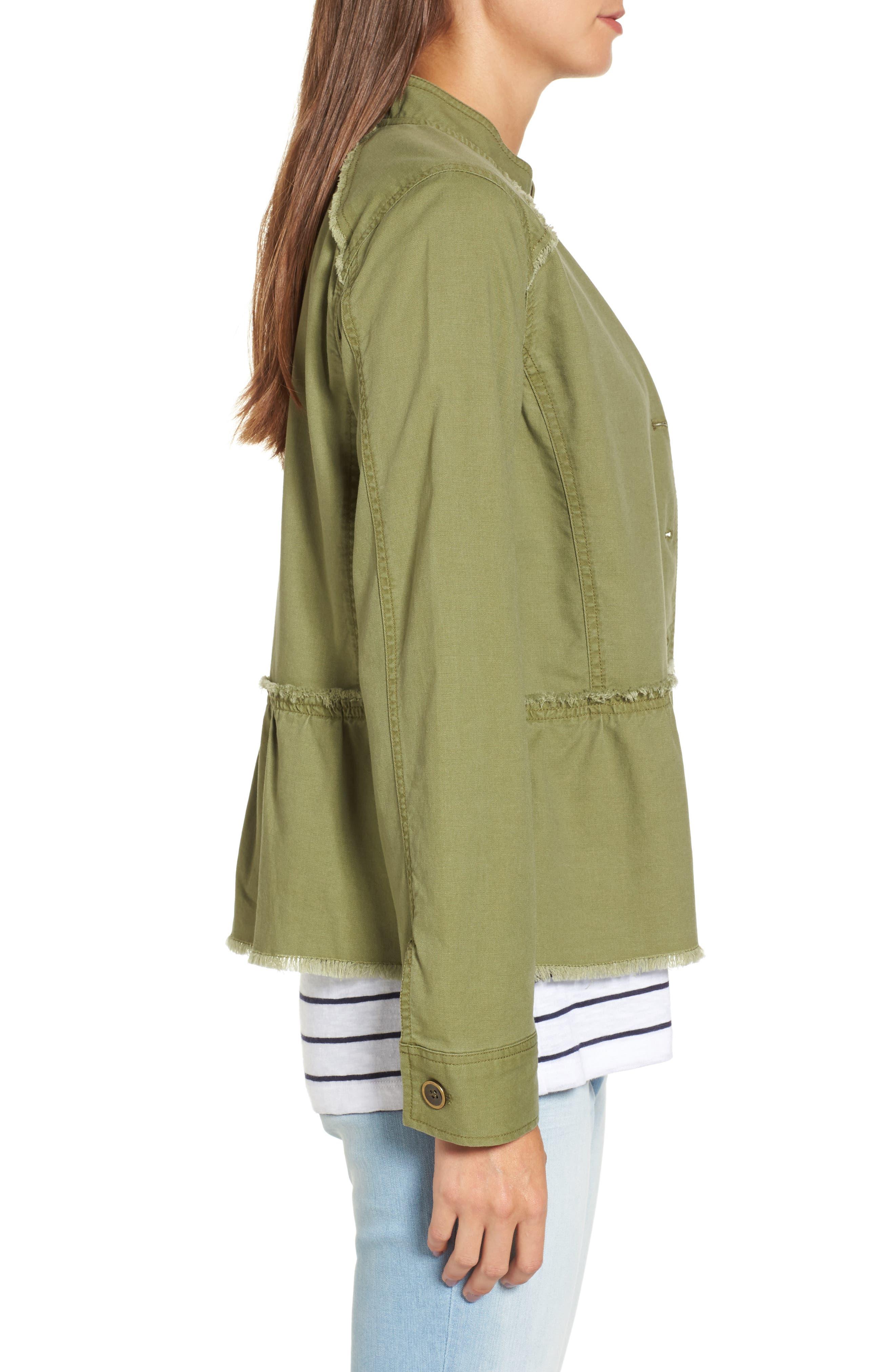 Alternate Image 4  - Caslon® Twill Peplum Jacket (Regular & Petite)