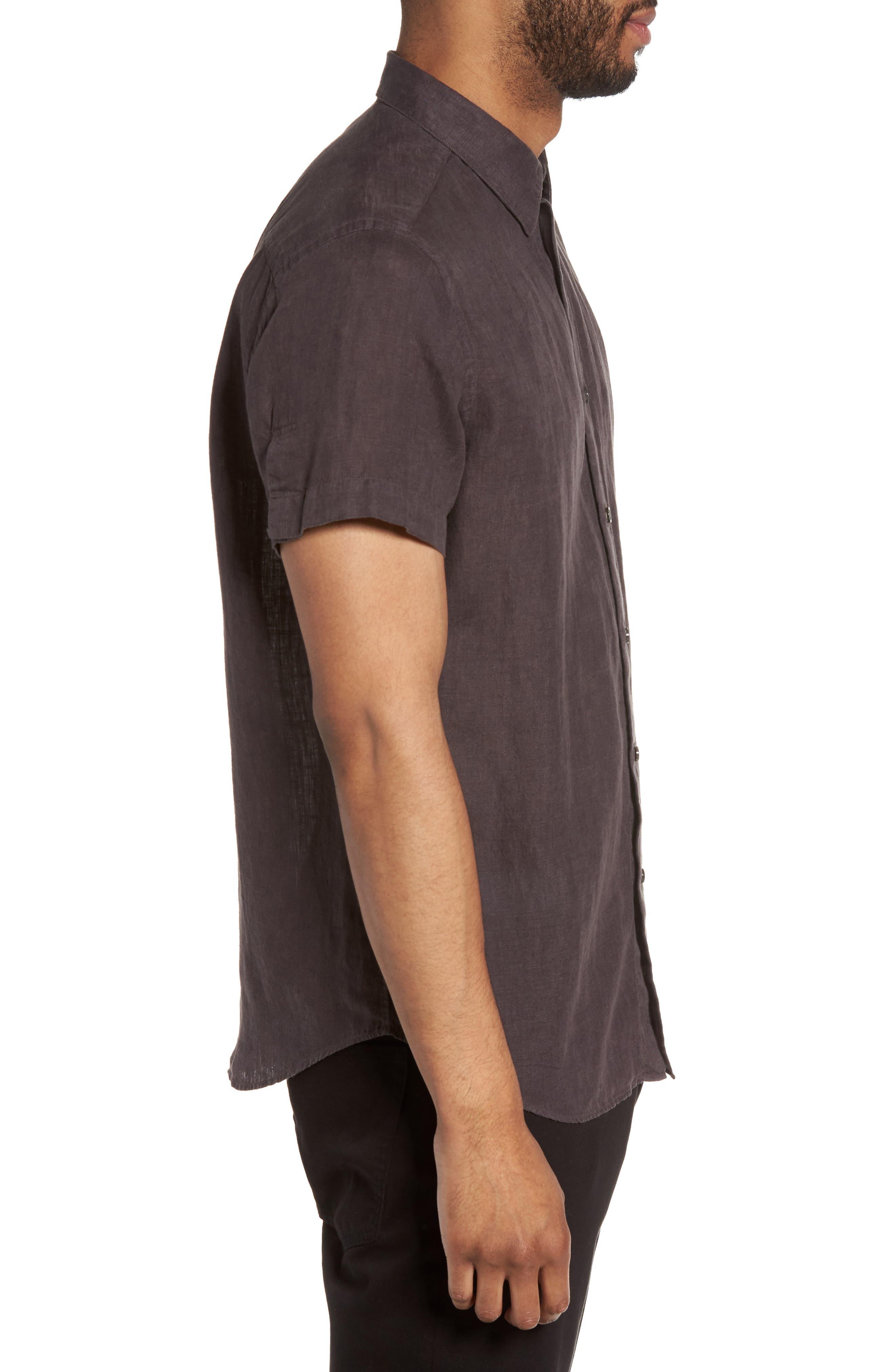 Alternate Image 3  - Theory Clark Trim Fit Linen Sport Shirt