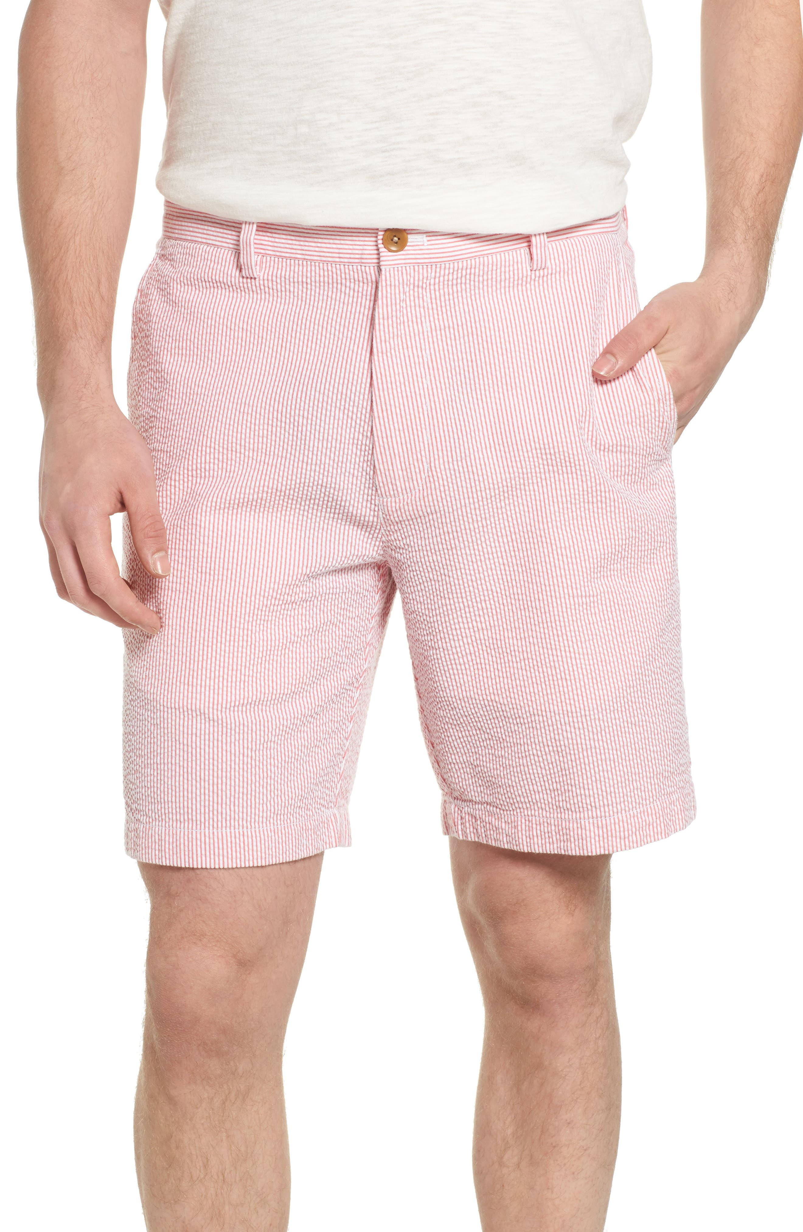 9 Inch Seersucker Shorts,                         Main,                         color, Jetty Red