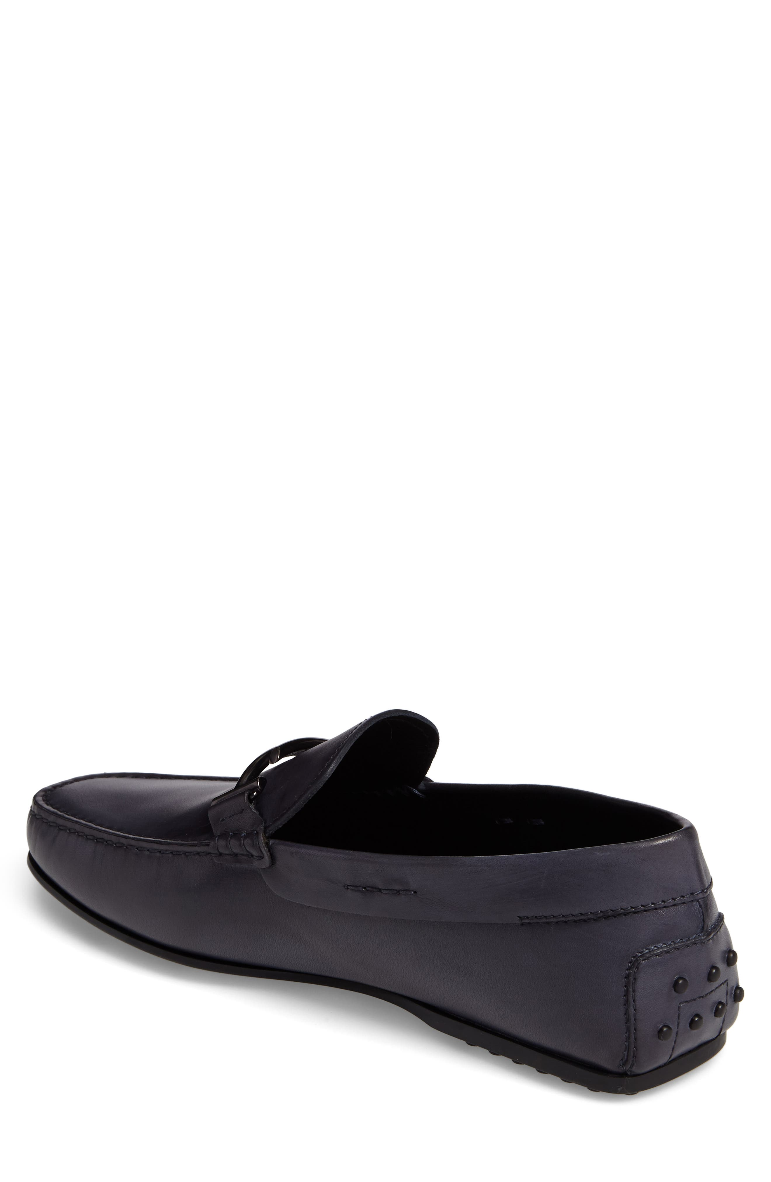 Gommini Driving Shoe,                             Alternate thumbnail 2, color,                             Dark Grey Leather