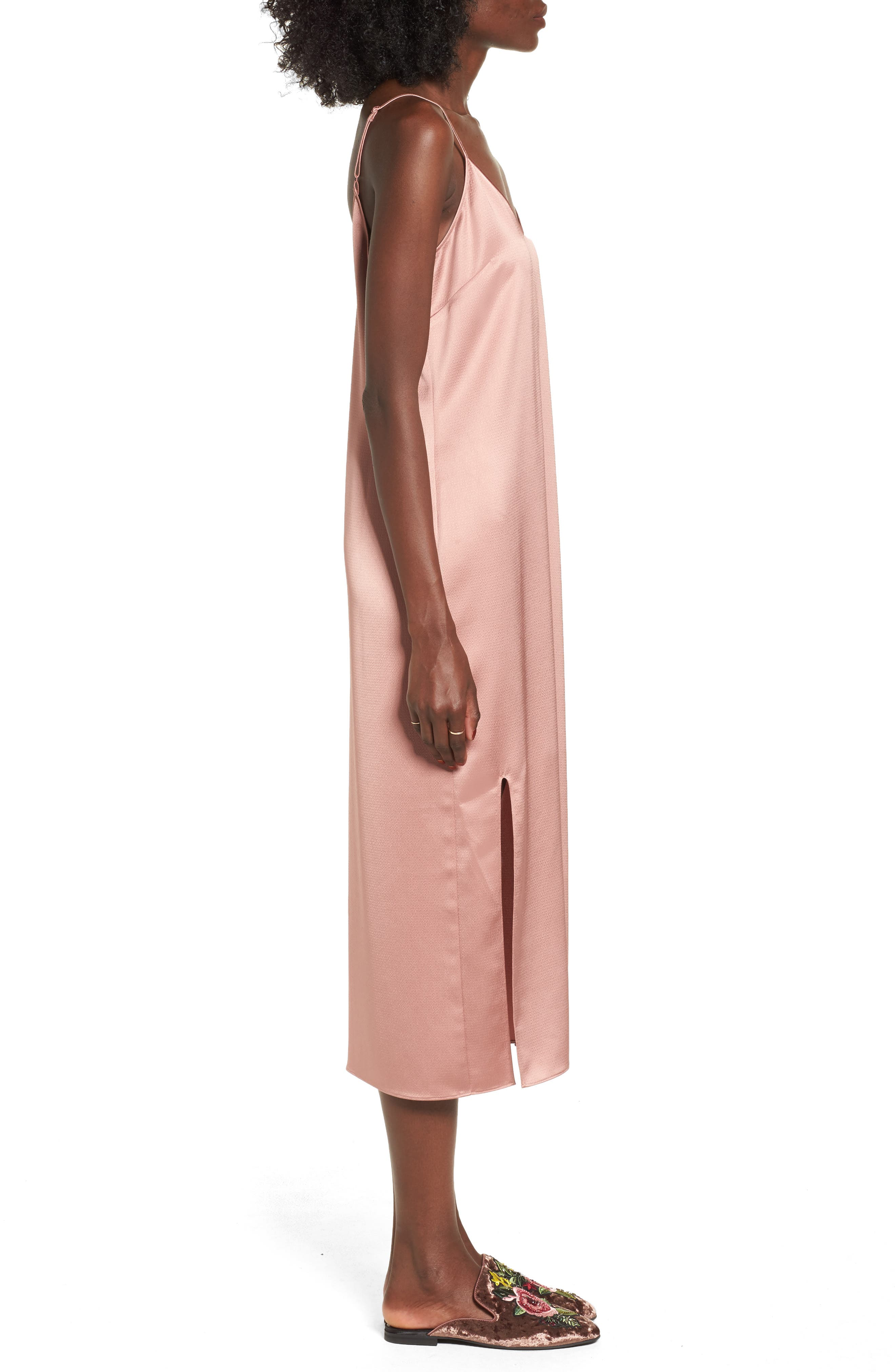Slipdress,                             Alternate thumbnail 4, color,                             Tan Burlwood