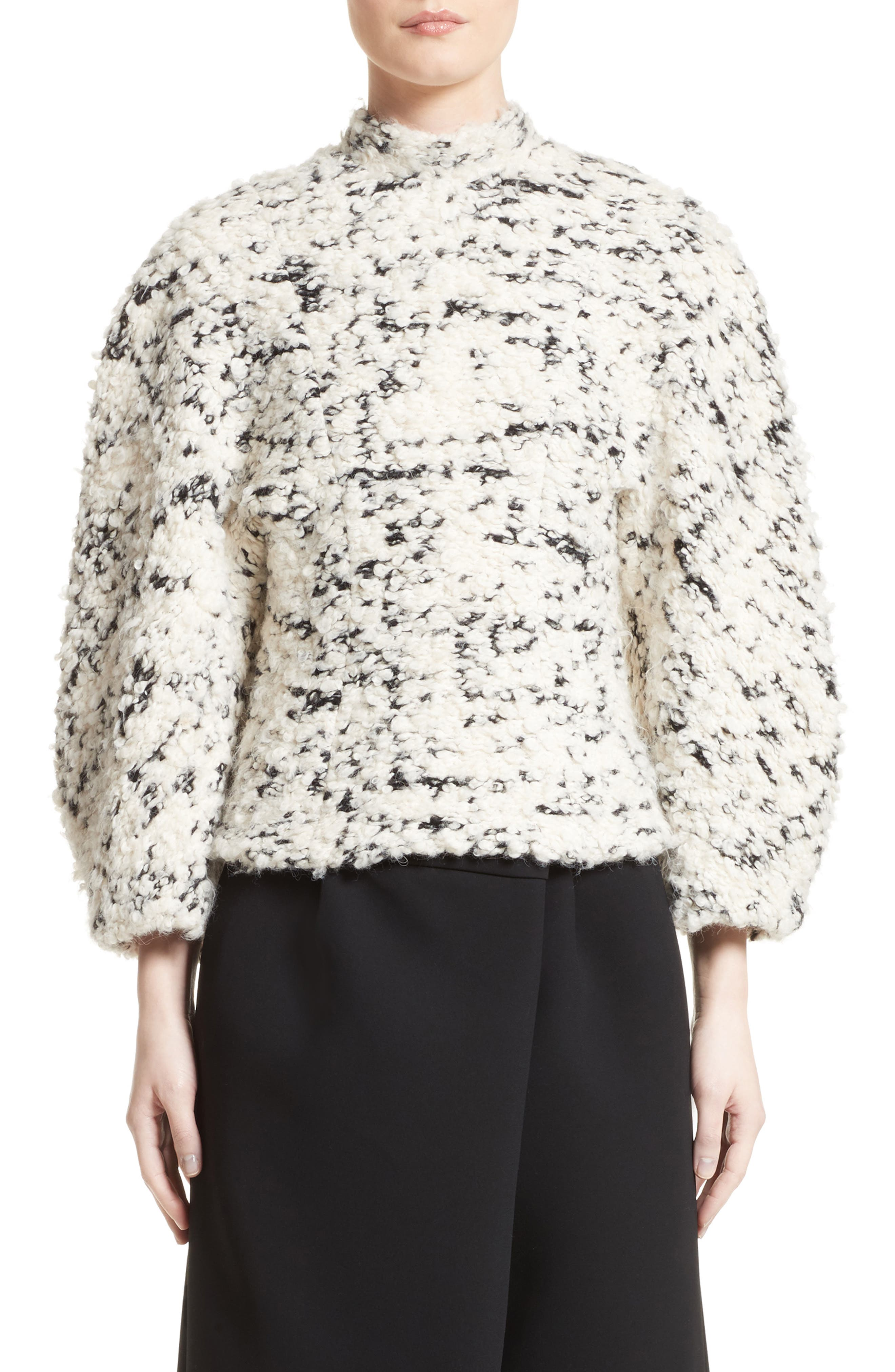 A.W.A.K.E. Textured Mock Neck Sweater