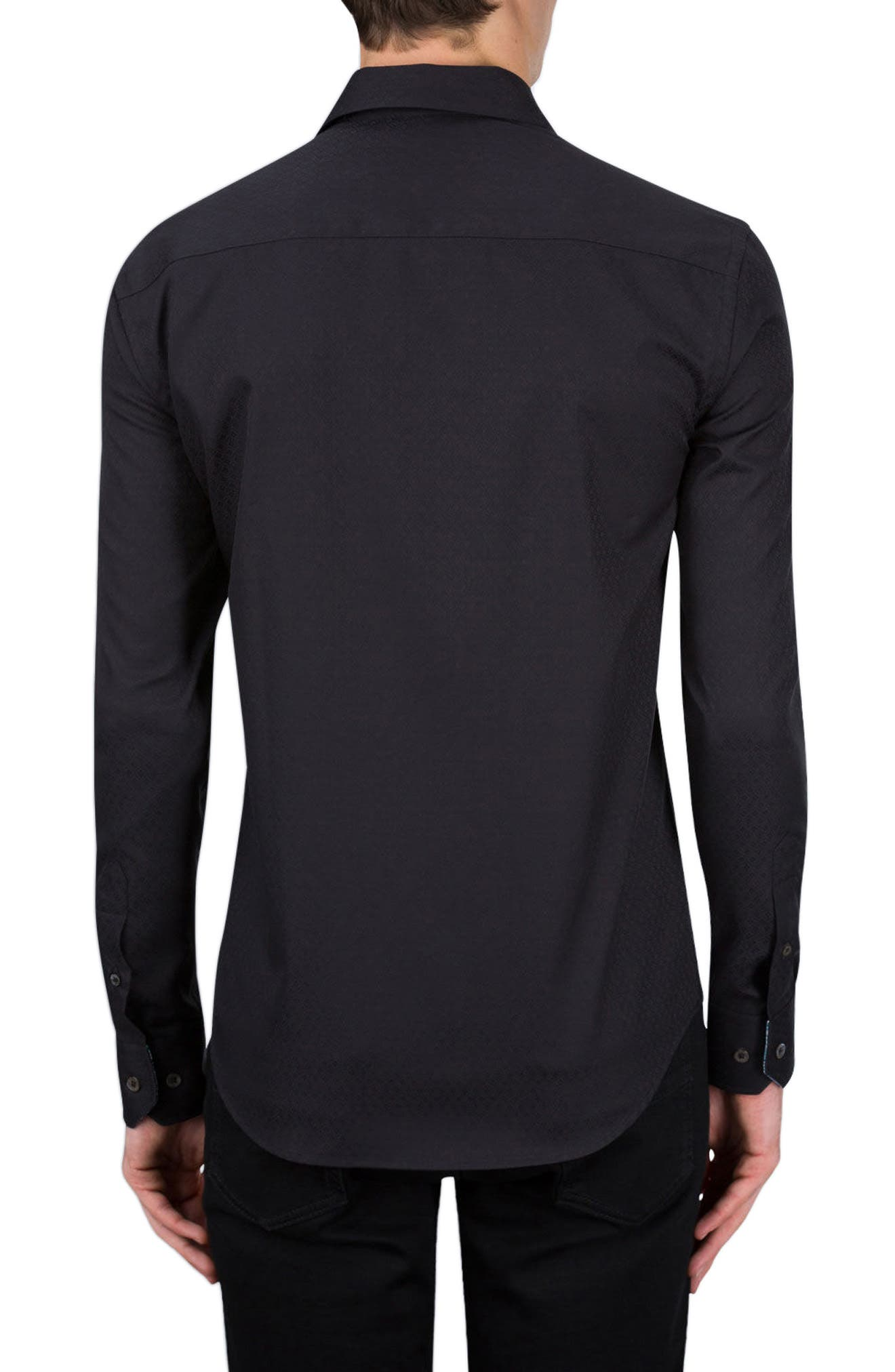 Classic Fit Sport Shirt,                             Alternate thumbnail 2, color,                             Black