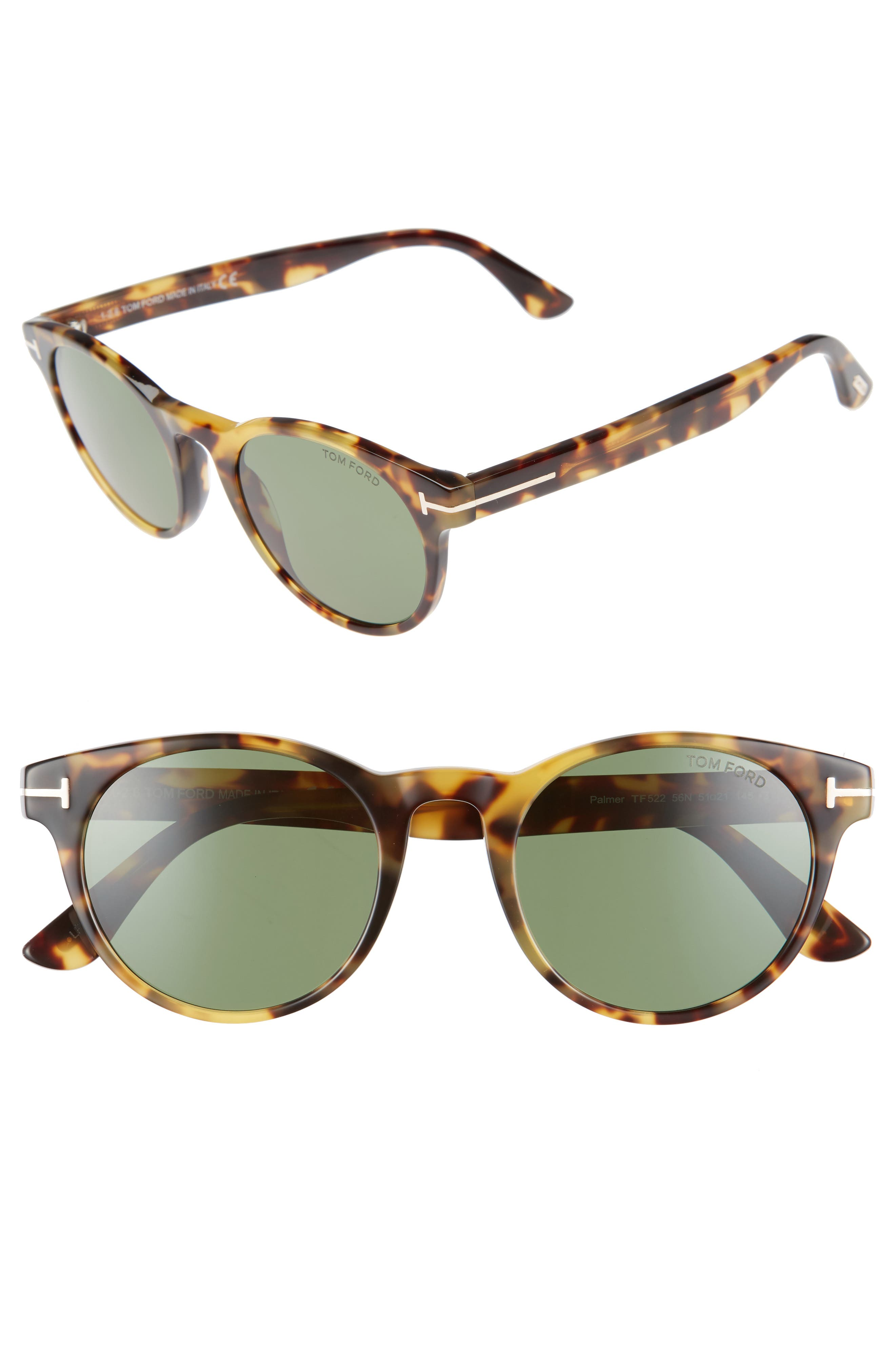 Alternate Image 1 Selected - Tom Ford Palmer 51mm Gradient Lens Sunglasses