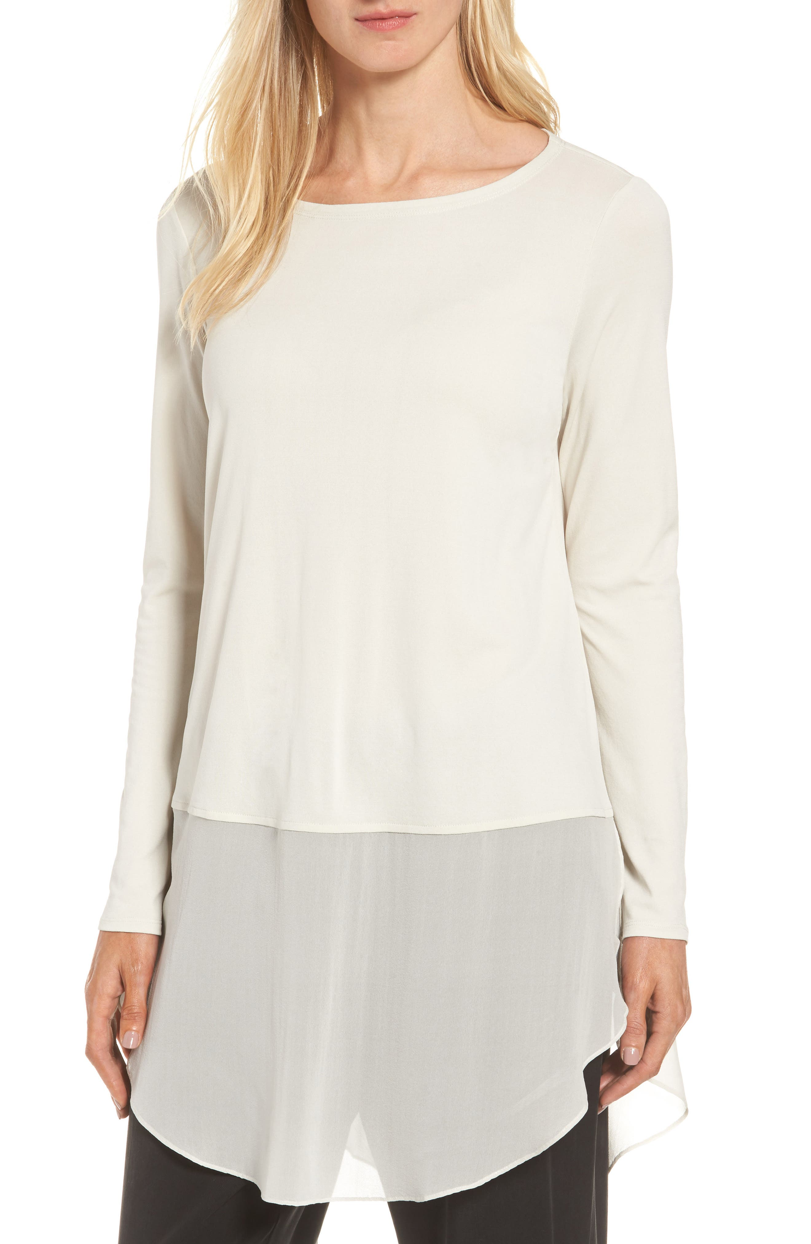 Eileen Fisher Silk Layer Look Tunic (Regular & Petite)
