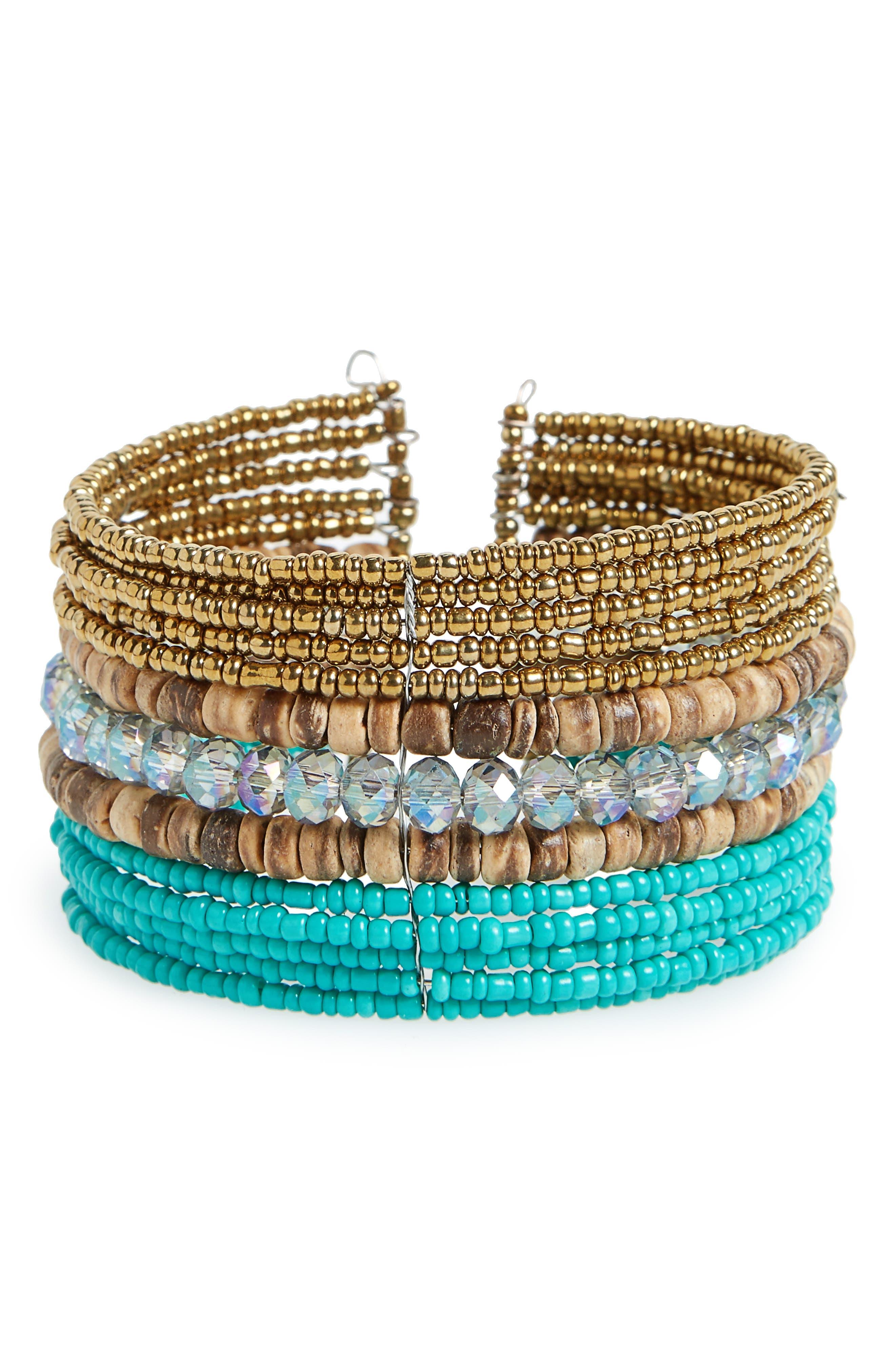 PANACEA Beaded Cuff Bracelet