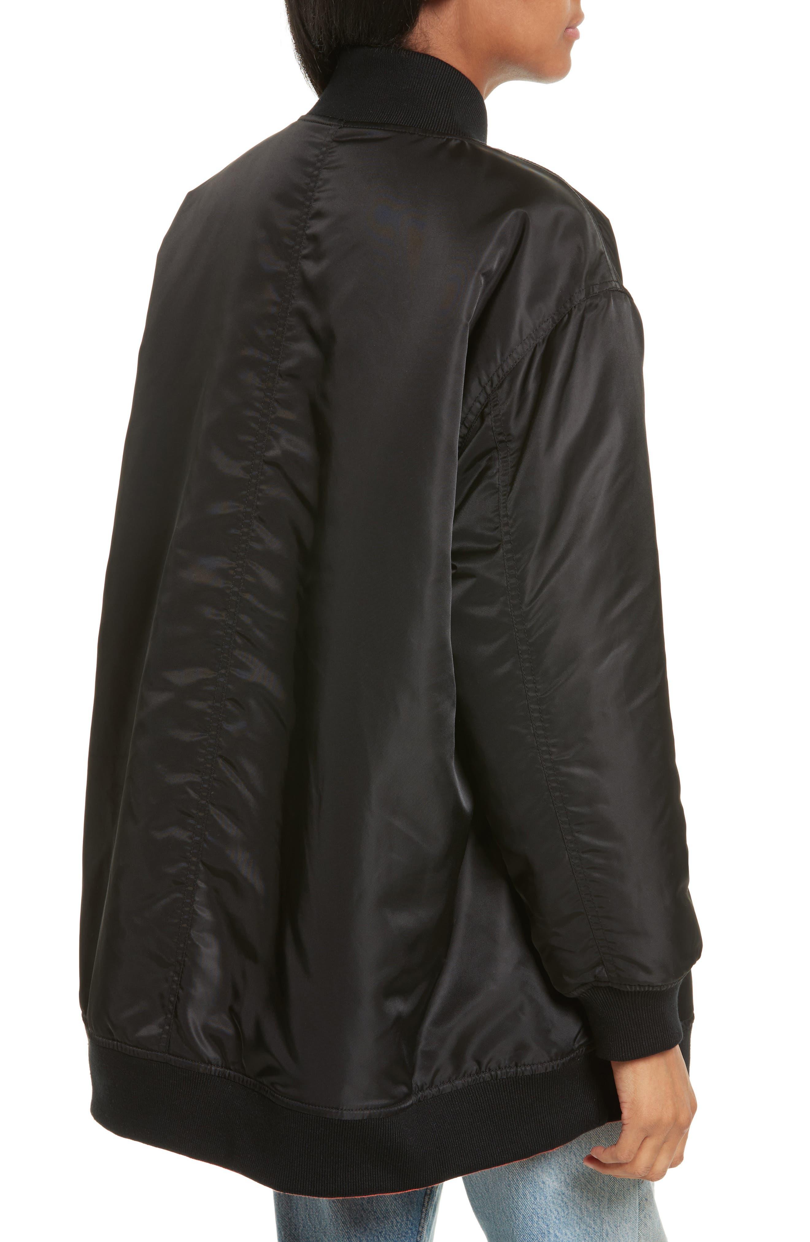 Reversible Bomber Jacket,                             Alternate thumbnail 2, color,                             Black