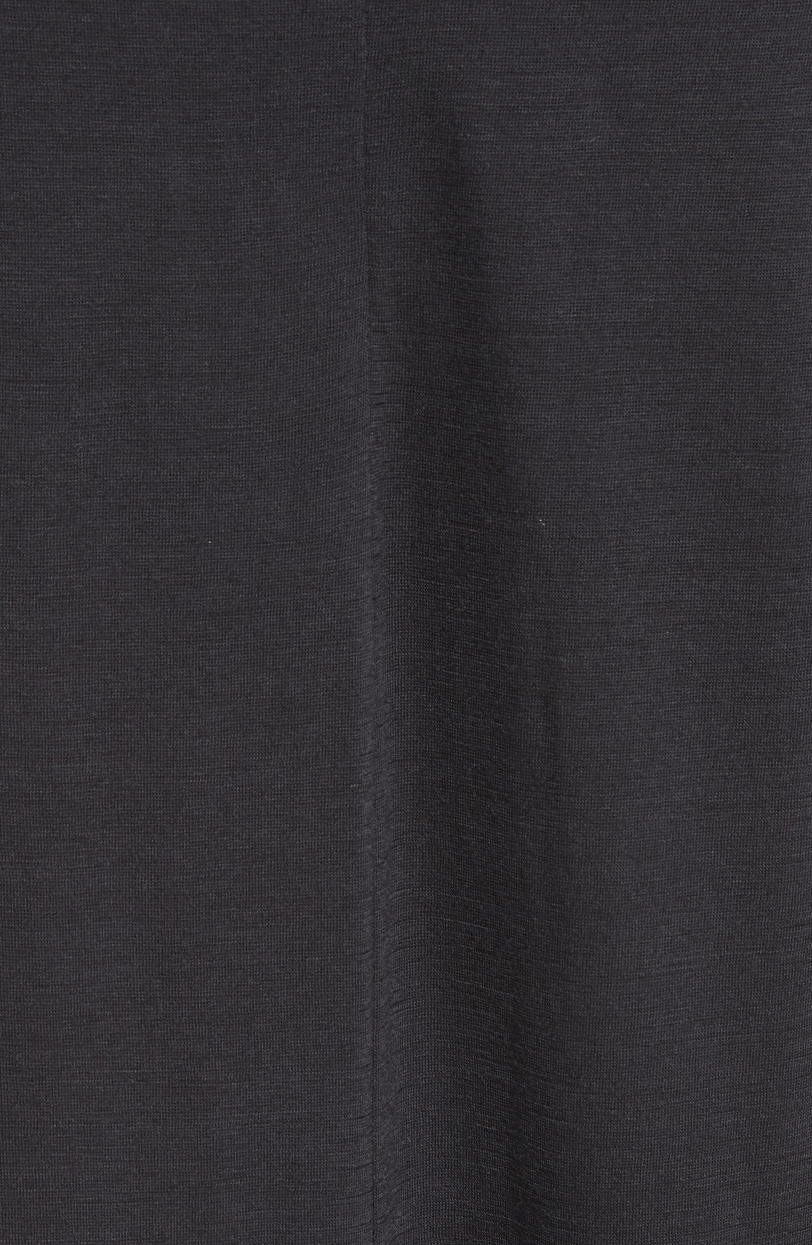 Nova Wool Turtleneck Dress,                             Alternate thumbnail 5, color,                             Black