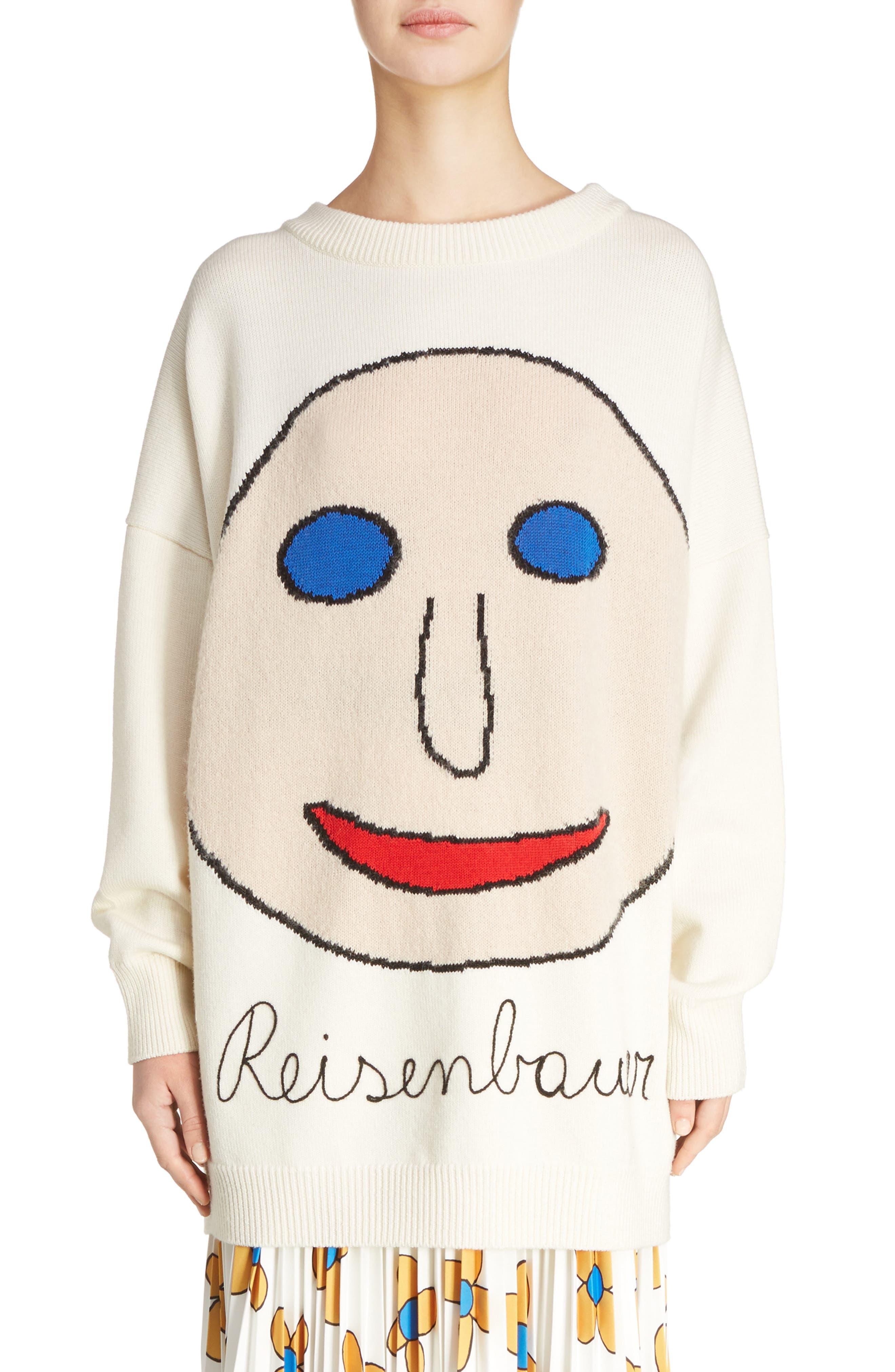 Christopher Kane Reisenbauer Intarsia Face Sweater
