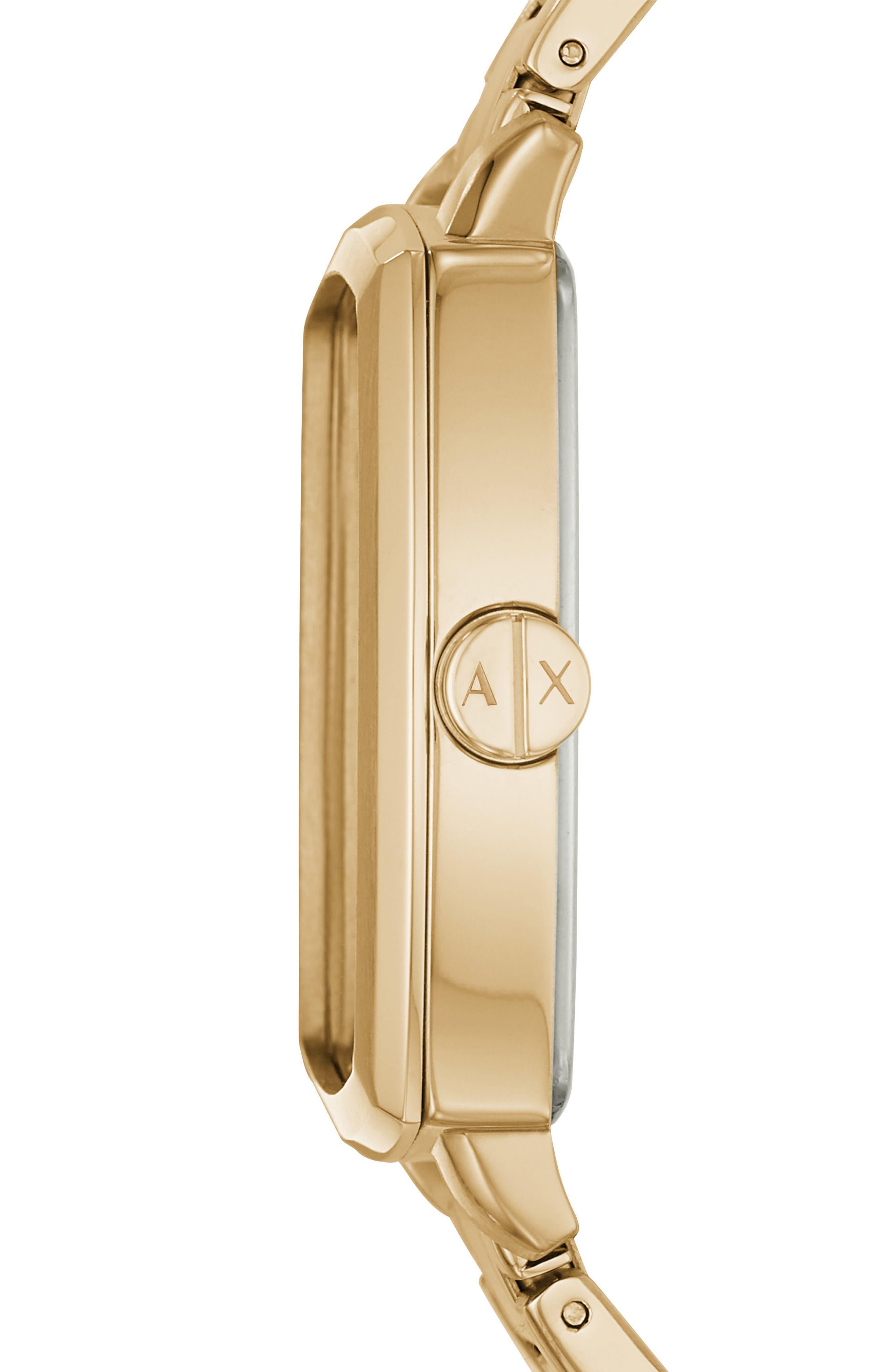 Square Bracelet Watch, 44mm,                             Alternate thumbnail 2, color,                             Gold/ Gold