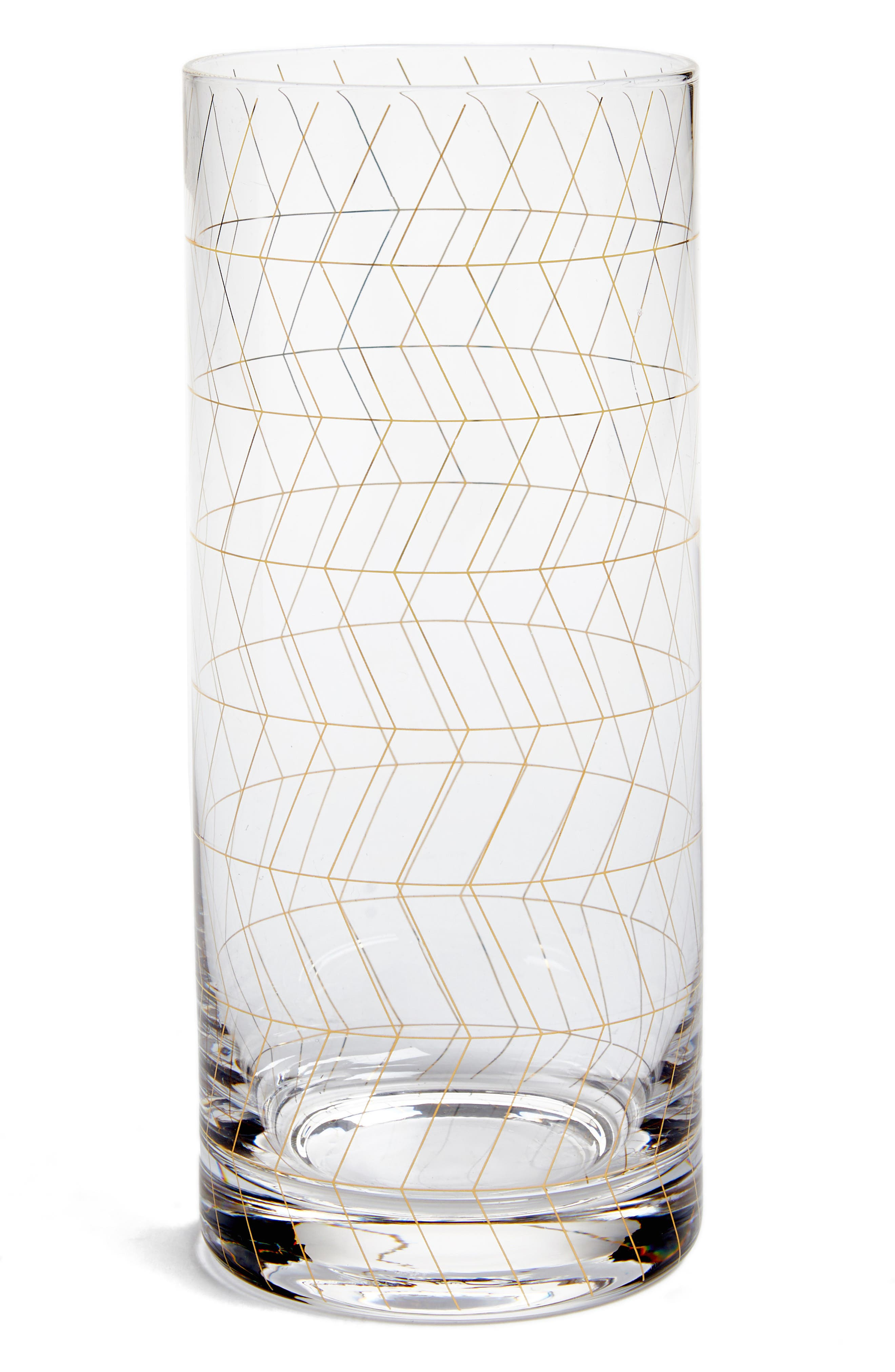Main Image - Bloomingville Geometric Print Drinking Glass