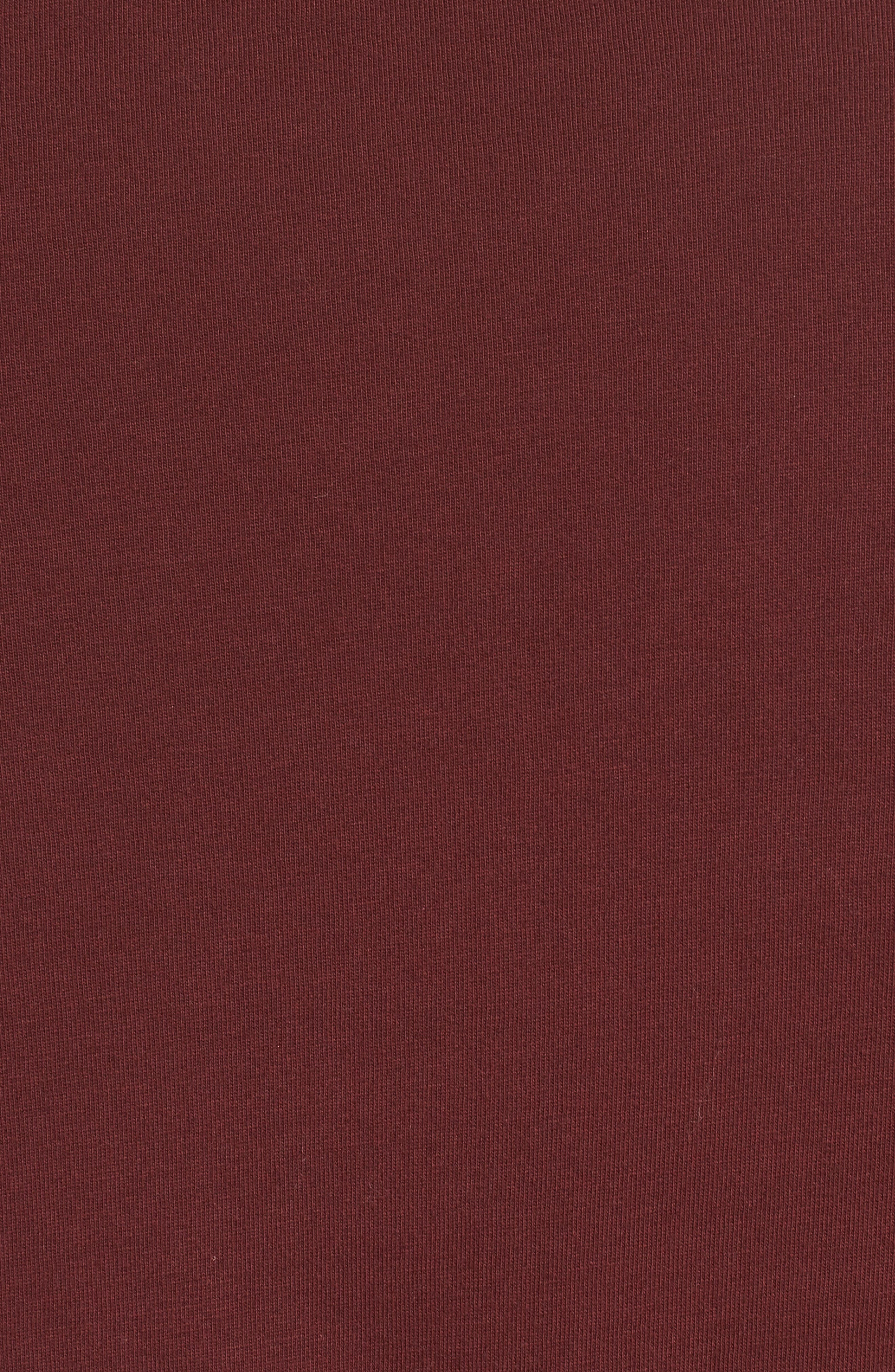 Contrast Cuff T-Shirt,                             Alternate thumbnail 5, color,                             Maroon