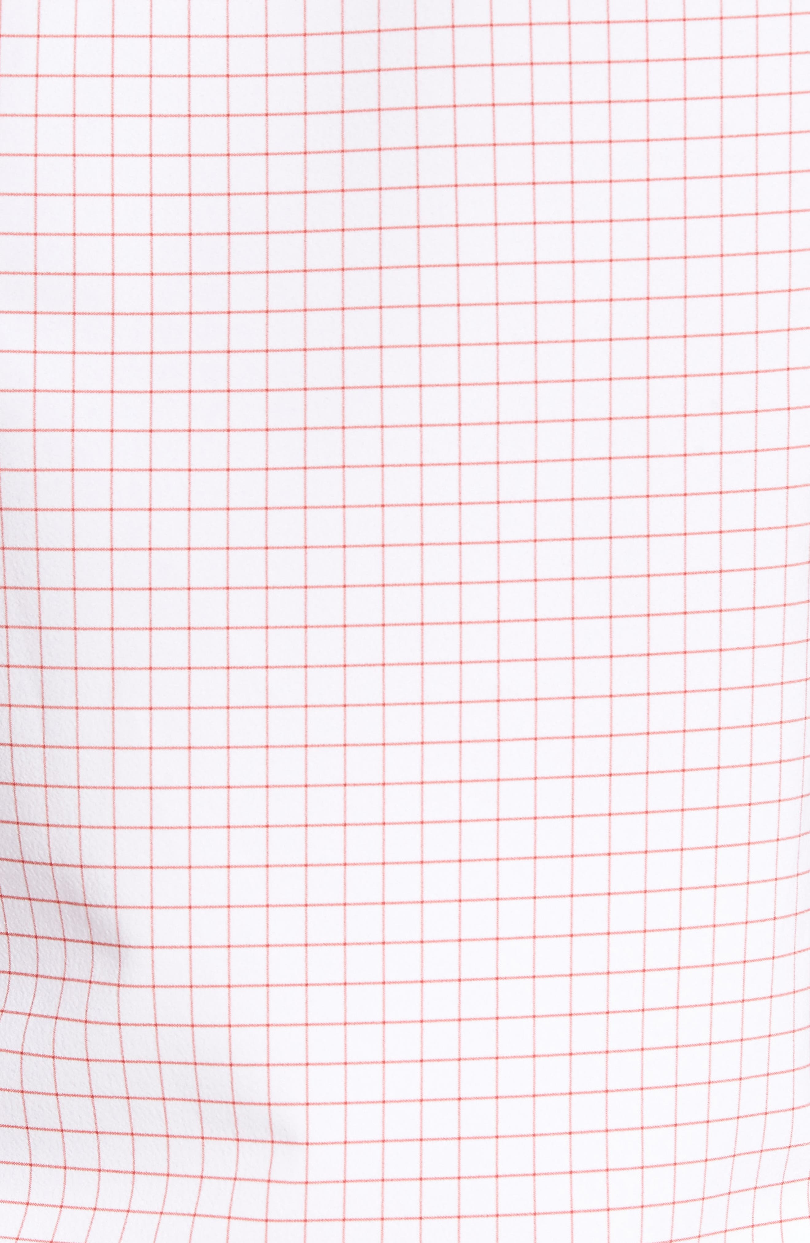 Norwalk Windowpane Performance Sport Shirt,                             Alternate thumbnail 5, color,                             Red