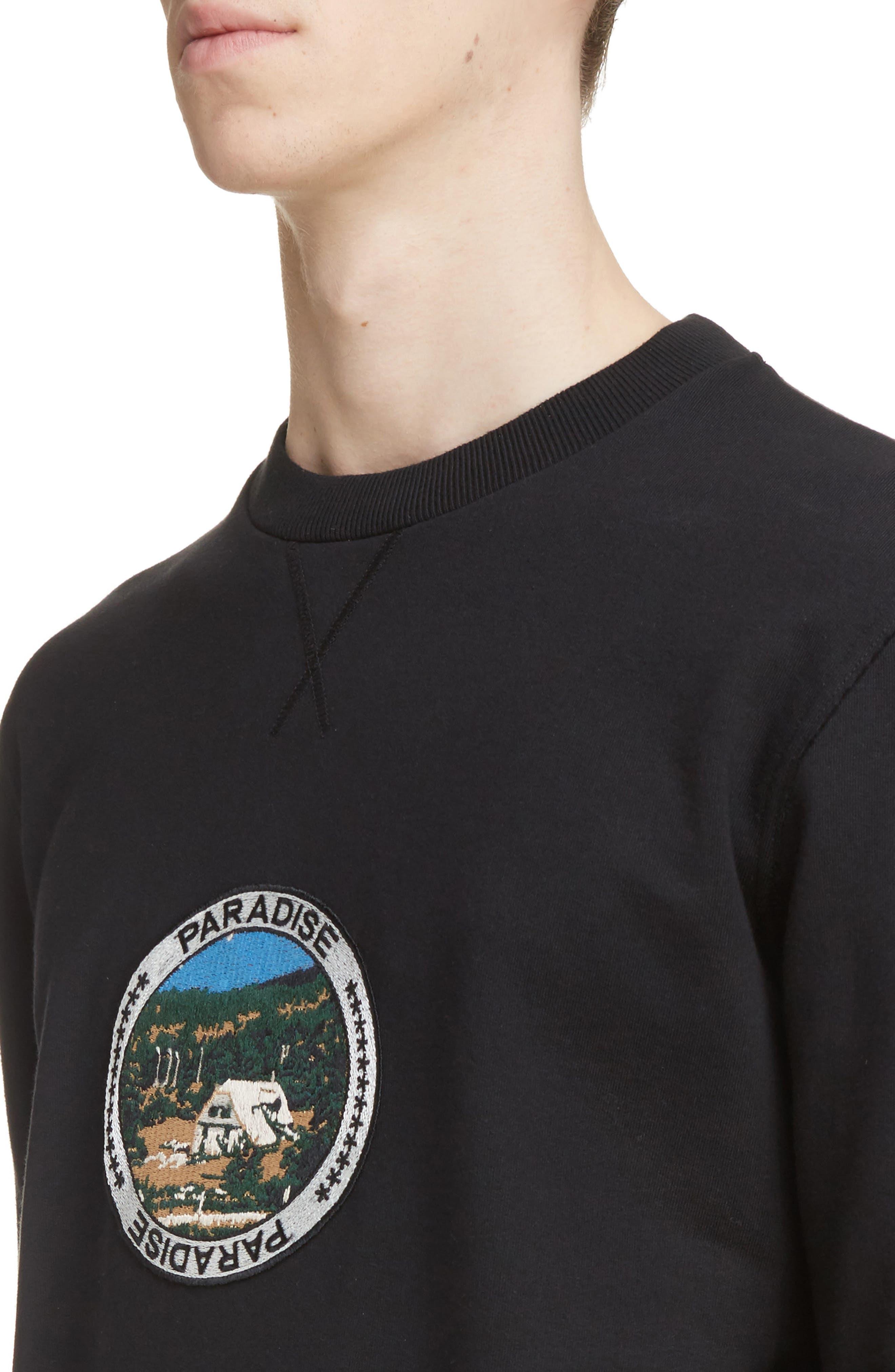 Paradise Patch Sweatshirt,                             Alternate thumbnail 4, color,                             Black