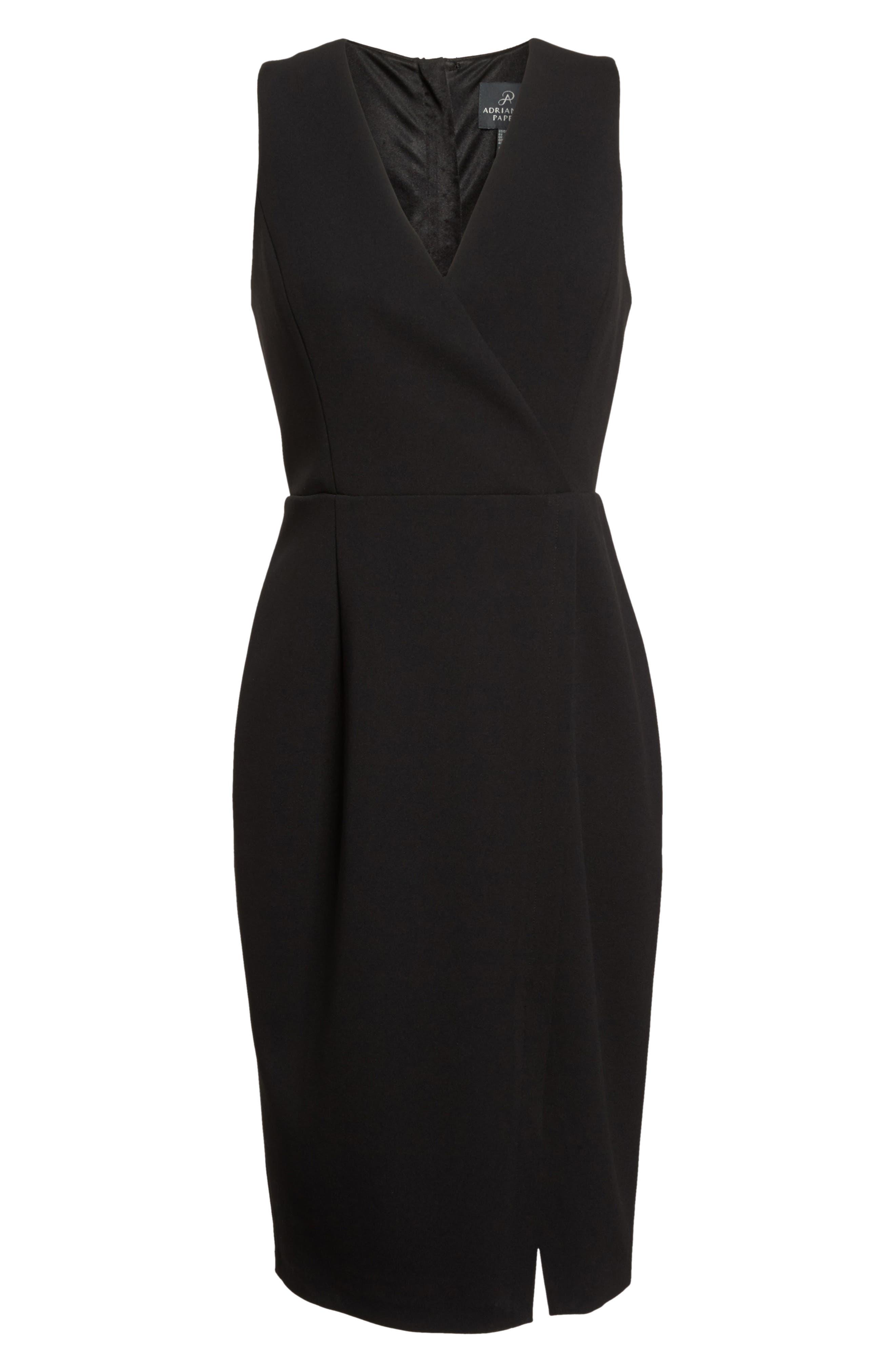 Alternate Image 6  - Adrianna Papell Crepe Sheath Dress