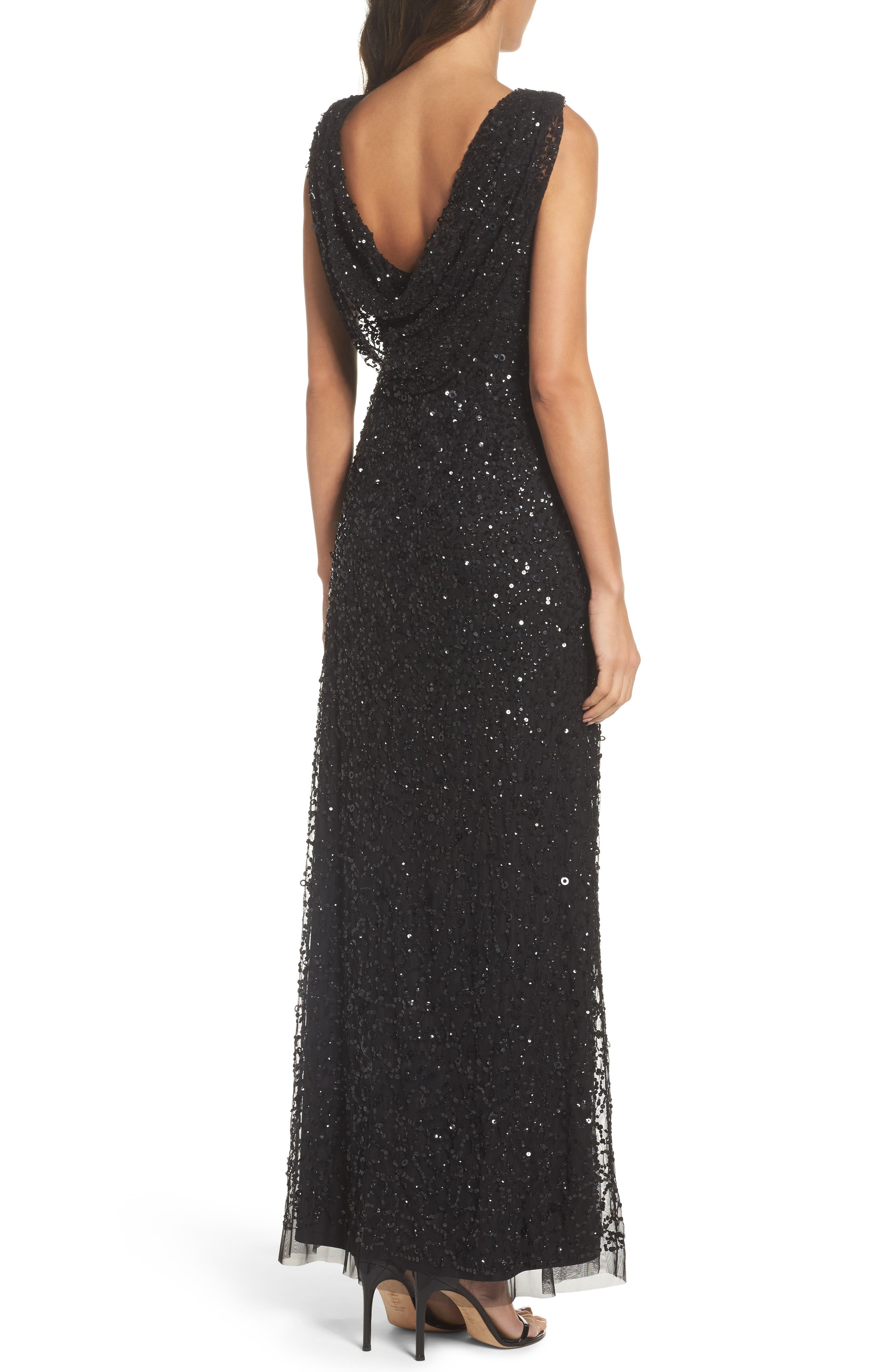 Alternate Image 2  - Adrianna Papell Drape Back Gown