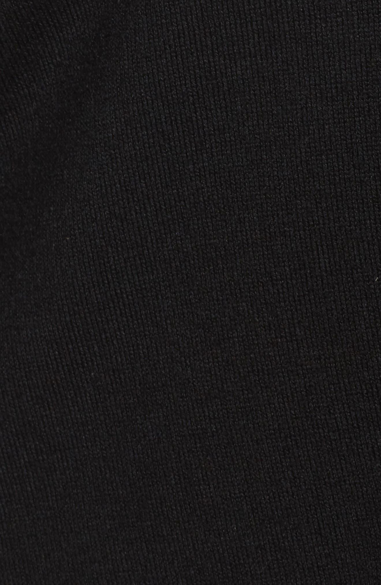 V-Neck Wool Blend Cardigan,                             Alternate thumbnail 5, color,                             Black