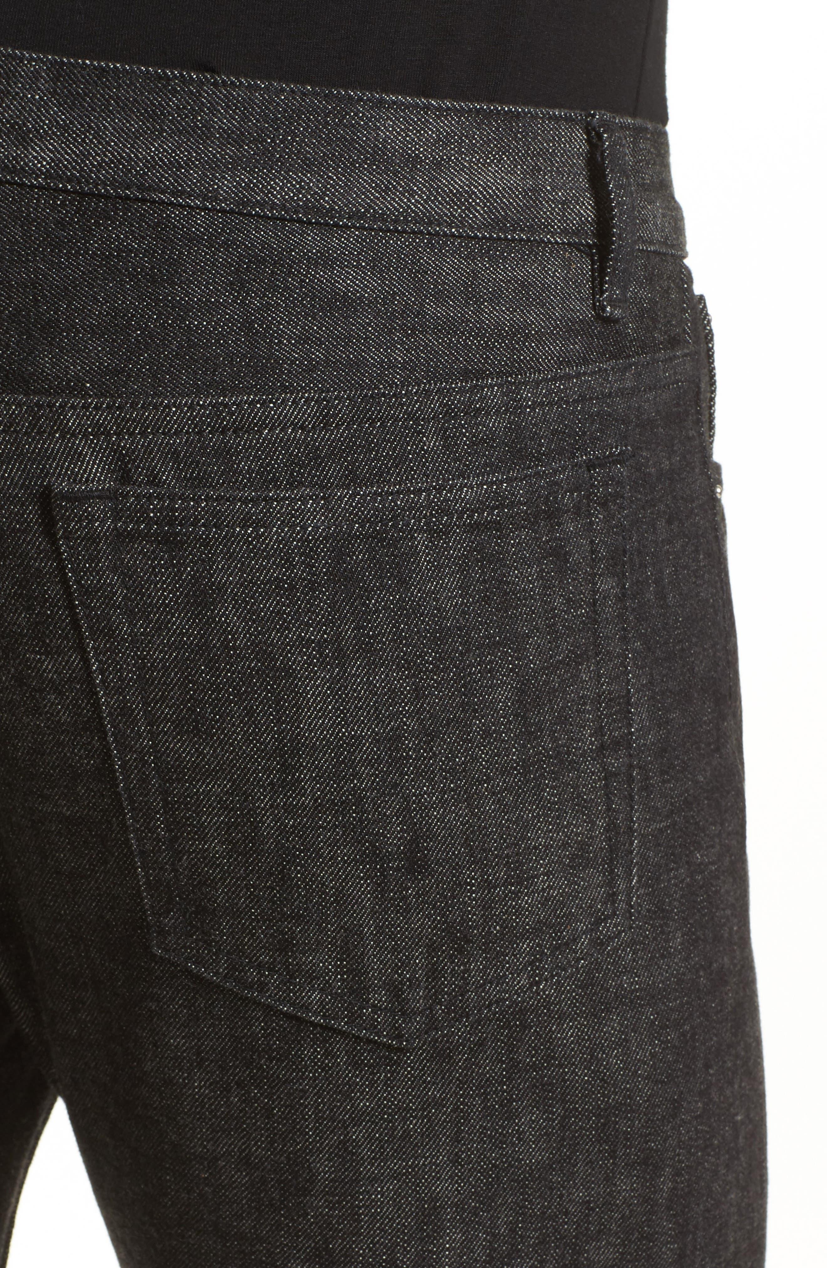 Petite New Standard Jeans,                             Alternate thumbnail 5, color,                             Faux Noir
