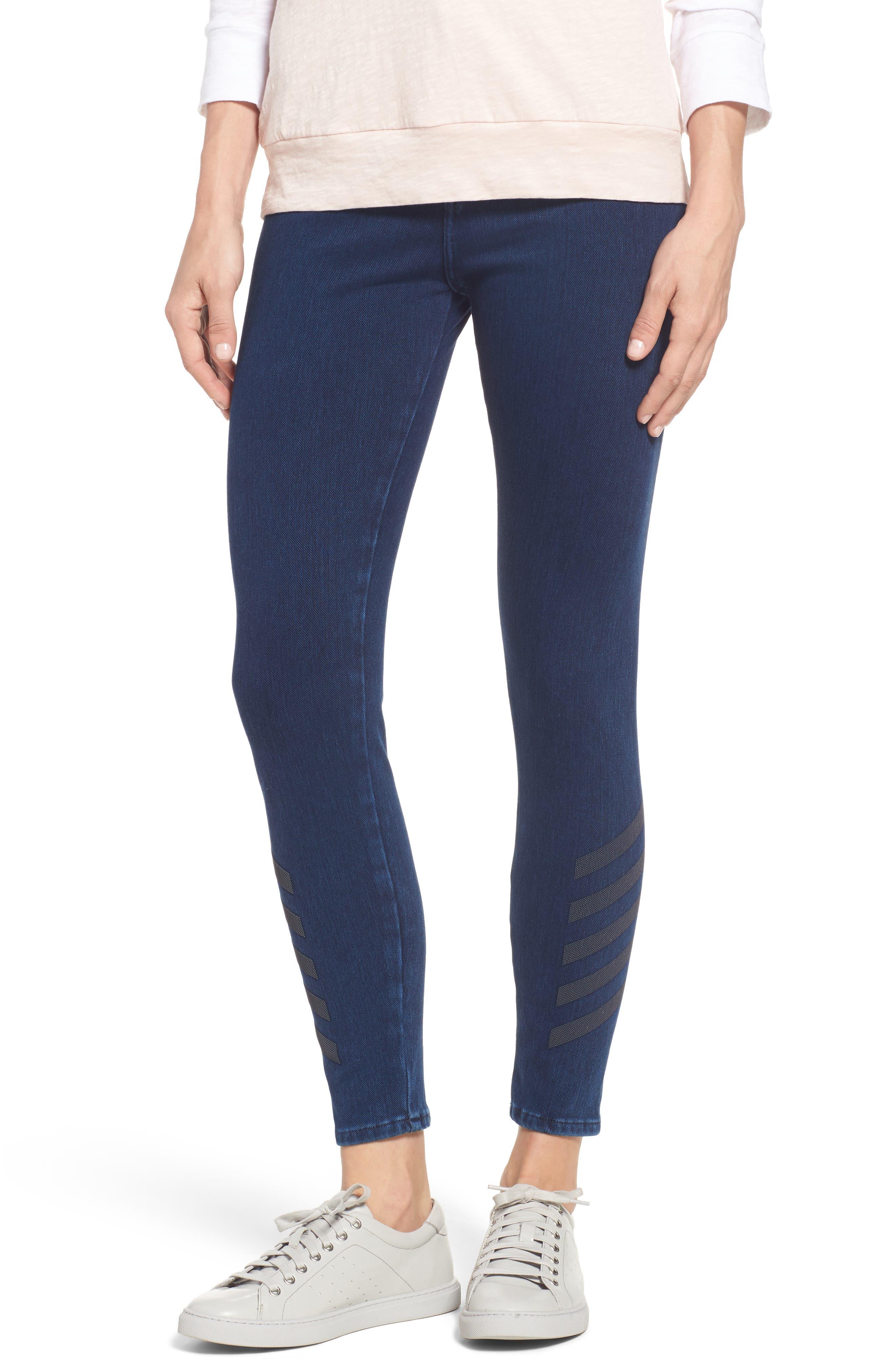 Main Image - Mavi Jeans Joie Embellished High Waist Skinny Jeans (Dark Indigo Move)