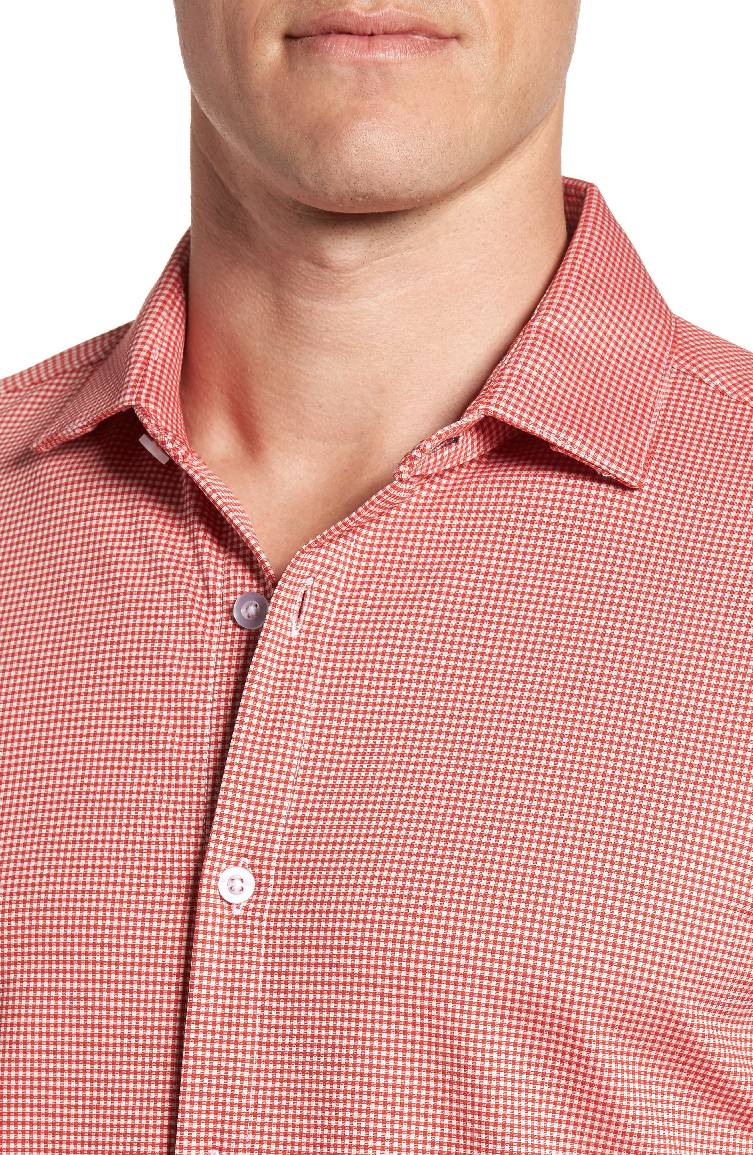 Hawthorne Gingham Sport Shirt,                             Alternate thumbnail 2, color,                             Red