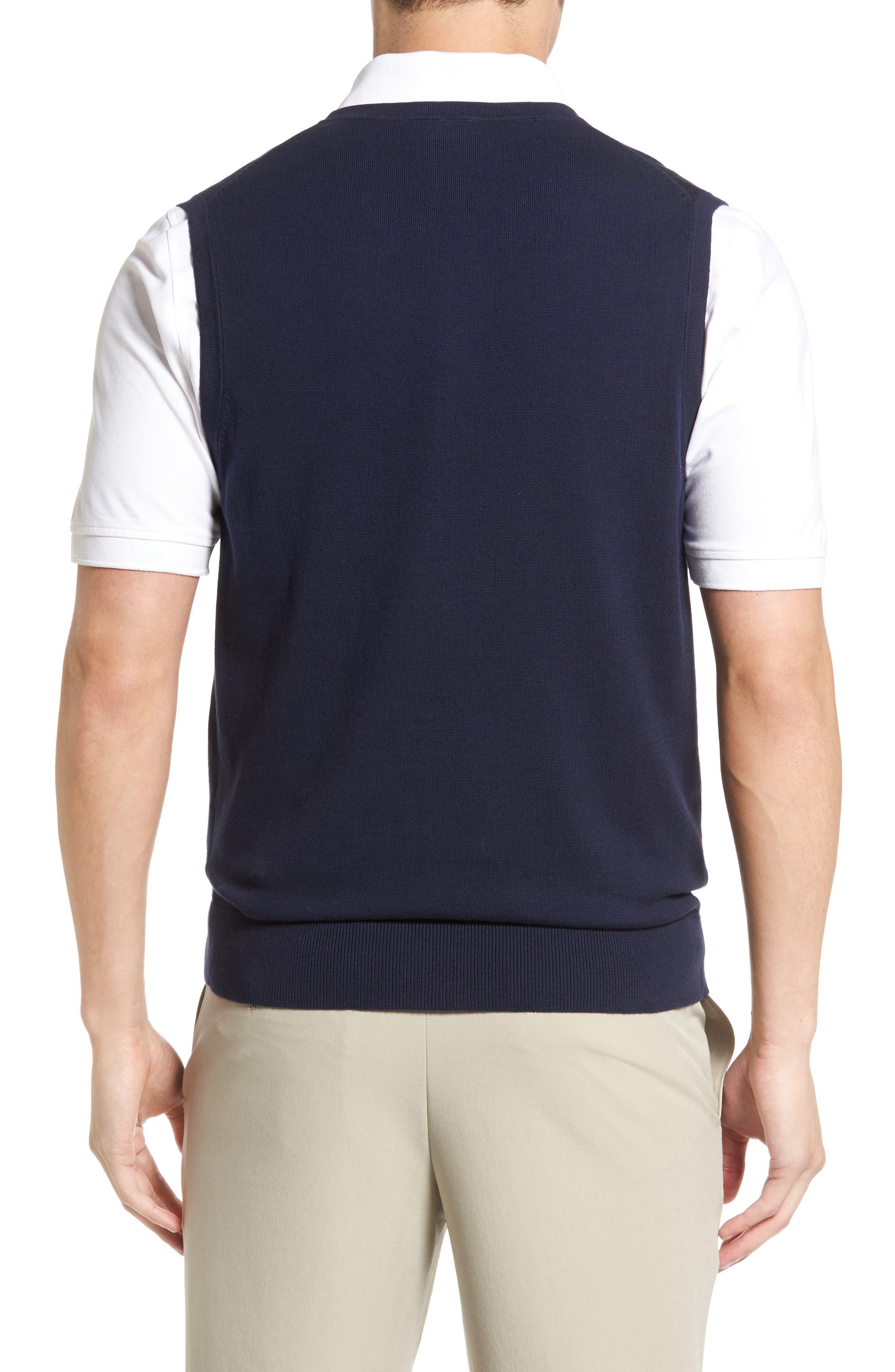 Lakemont V-Neck Sweater Vest,                             Alternate thumbnail 2, color,                             Liberty Navy