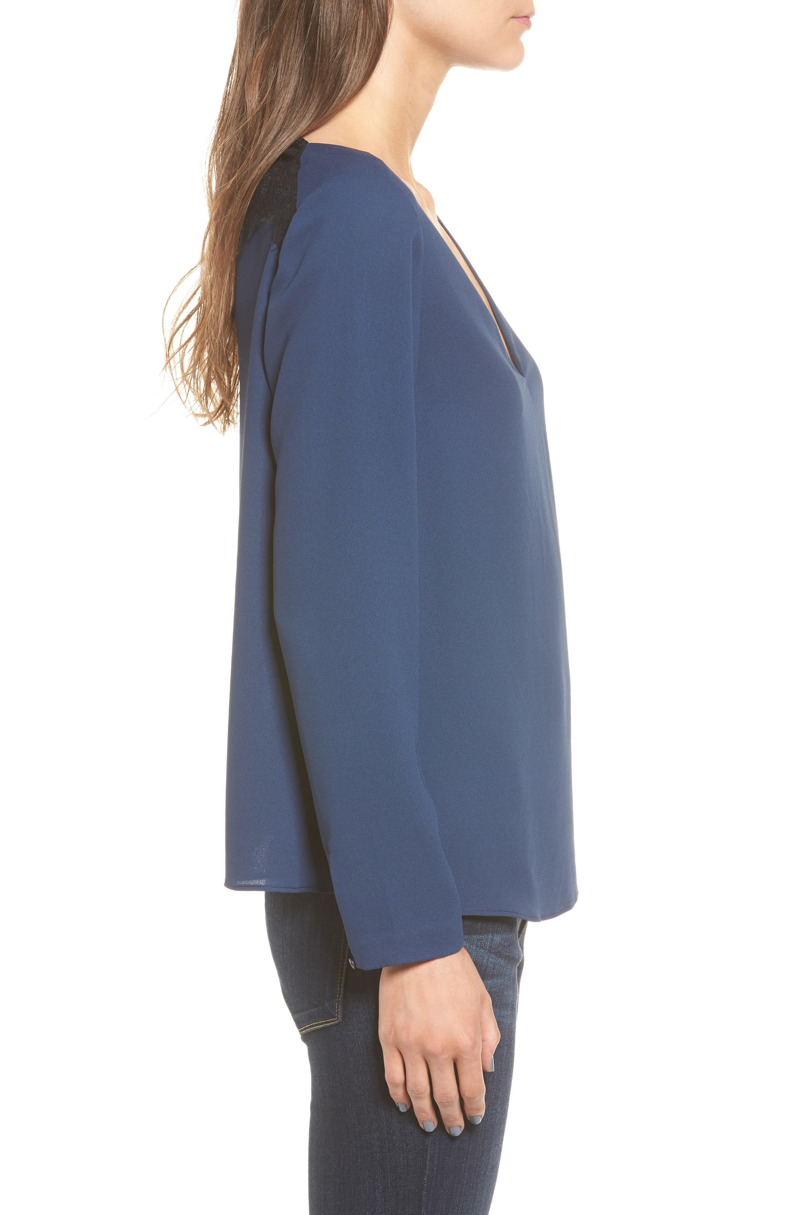 Alternate Image 3  - cooper & ella Freja Long Sleeve Blouse