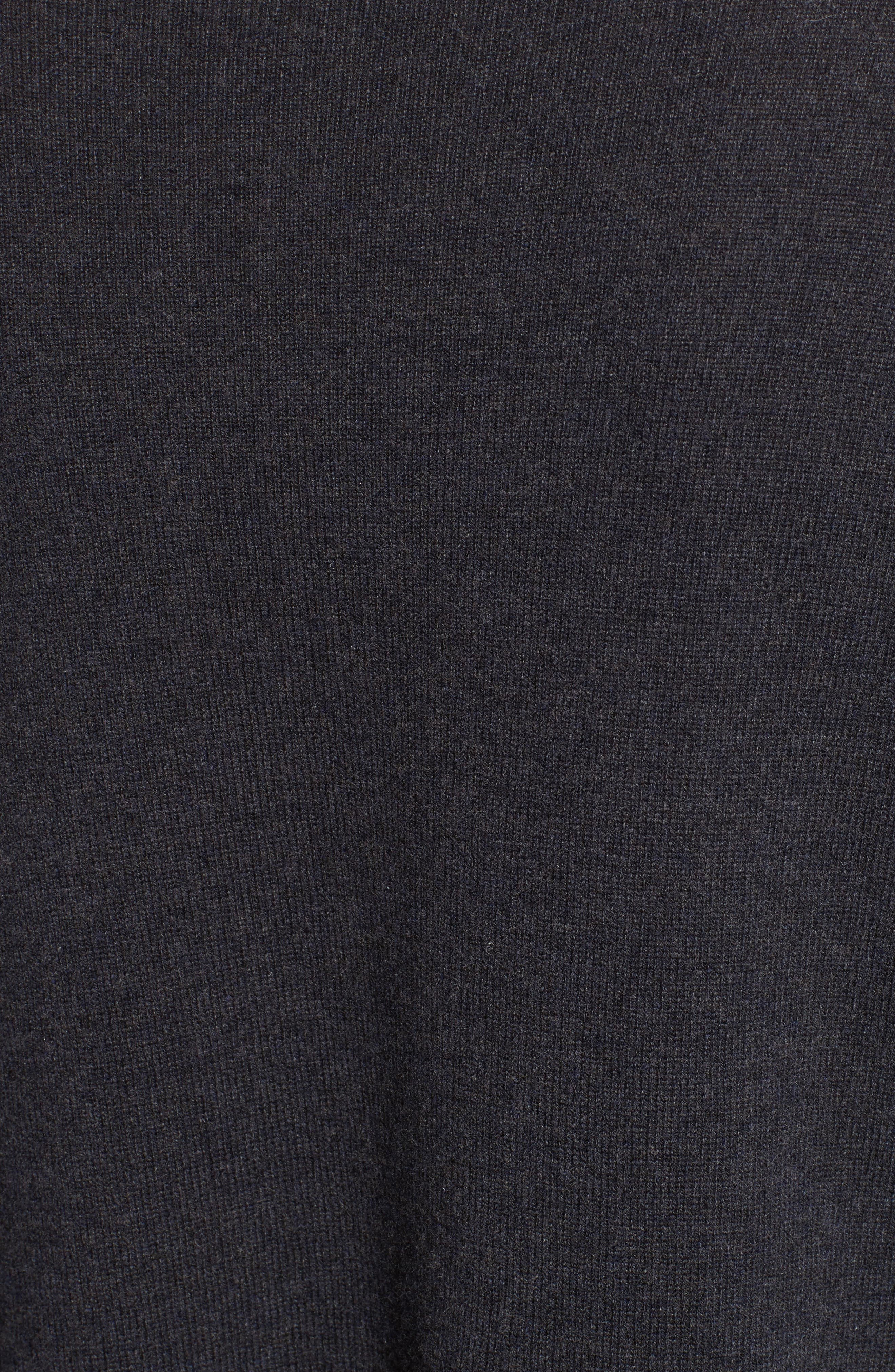 Wool, Silk & Cashmere Boatneck Sweater,                             Alternate thumbnail 3, color,                             Charcoal Navy
