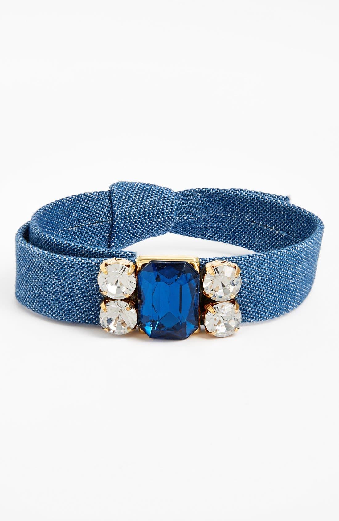 Alternate Image 1 Selected - Cara Crystal & Denim Bracelet