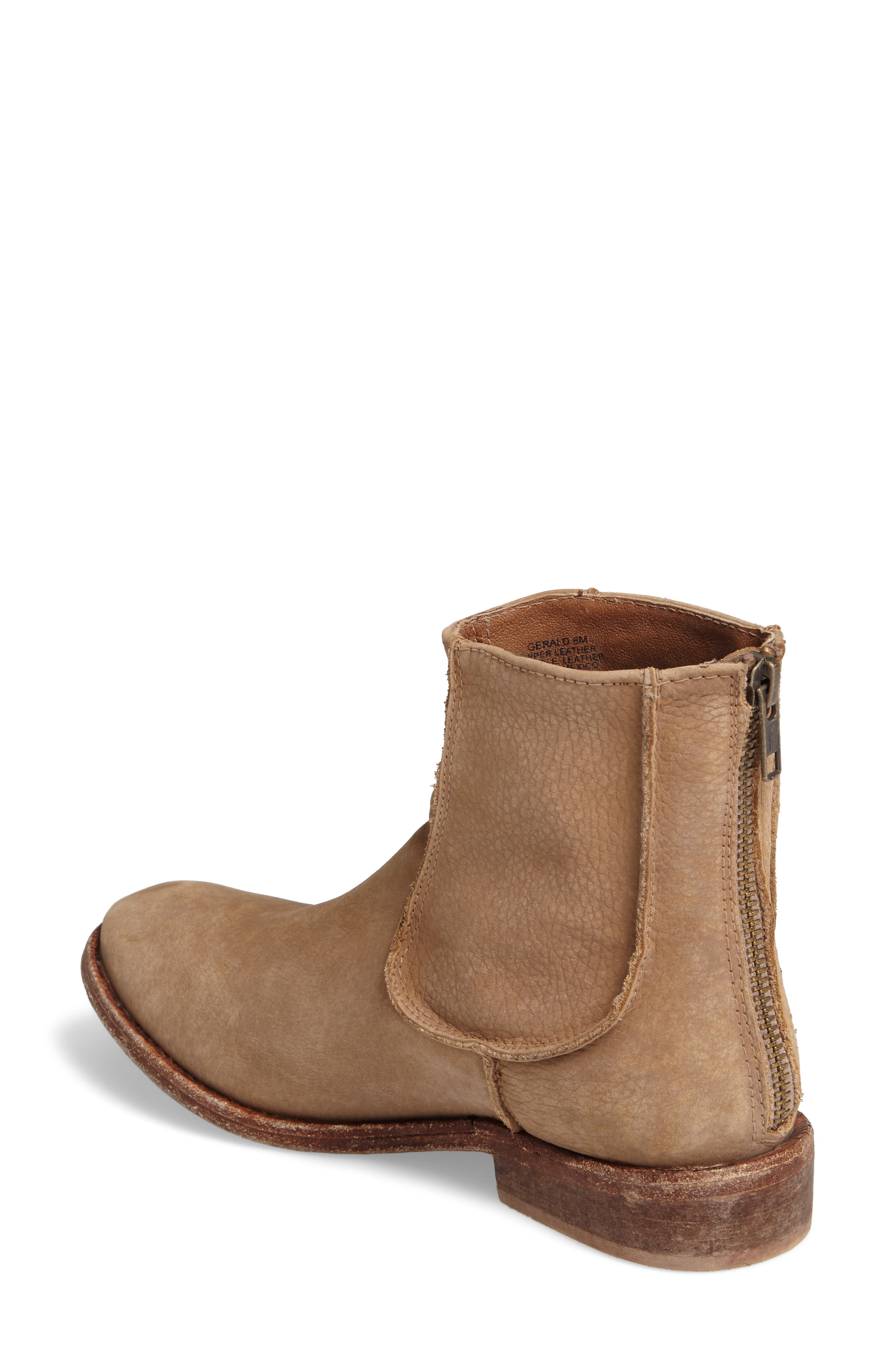 'Gerald' Distressed Bootie,                             Alternate thumbnail 2, color,                             Natural Leather