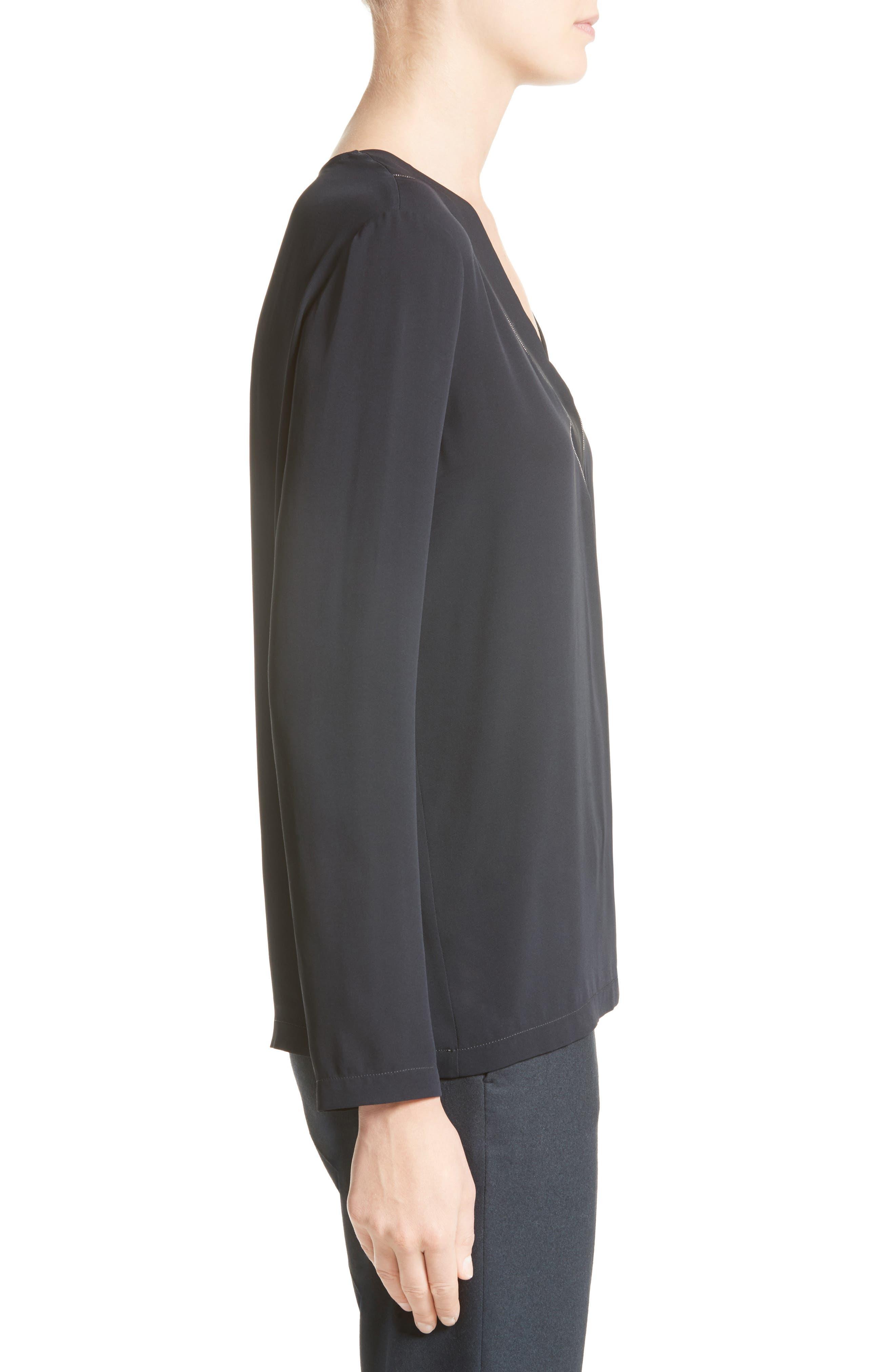 Alternate Image 5  - Fabiana Filippi Embellished Stretch Silk Blouse
