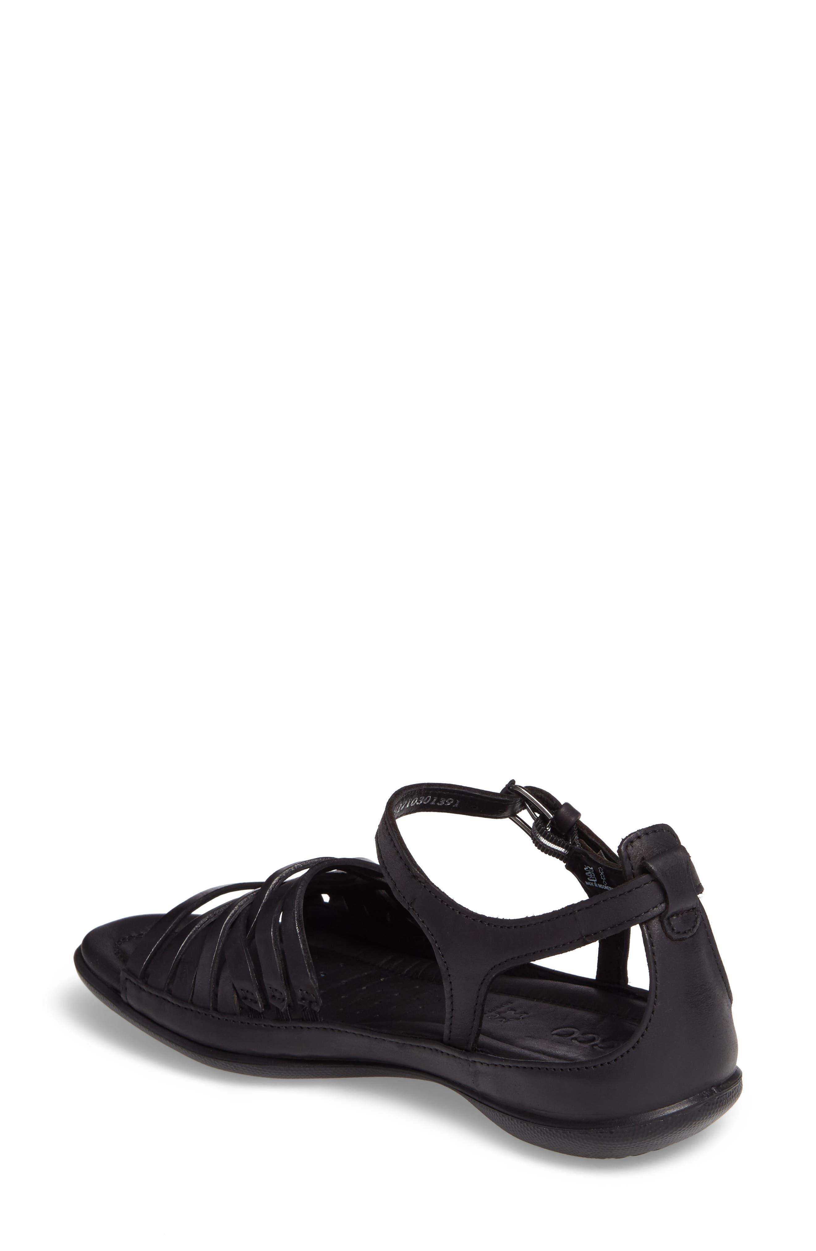Flash Sandal,                             Alternate thumbnail 2, color,                             Black Leather