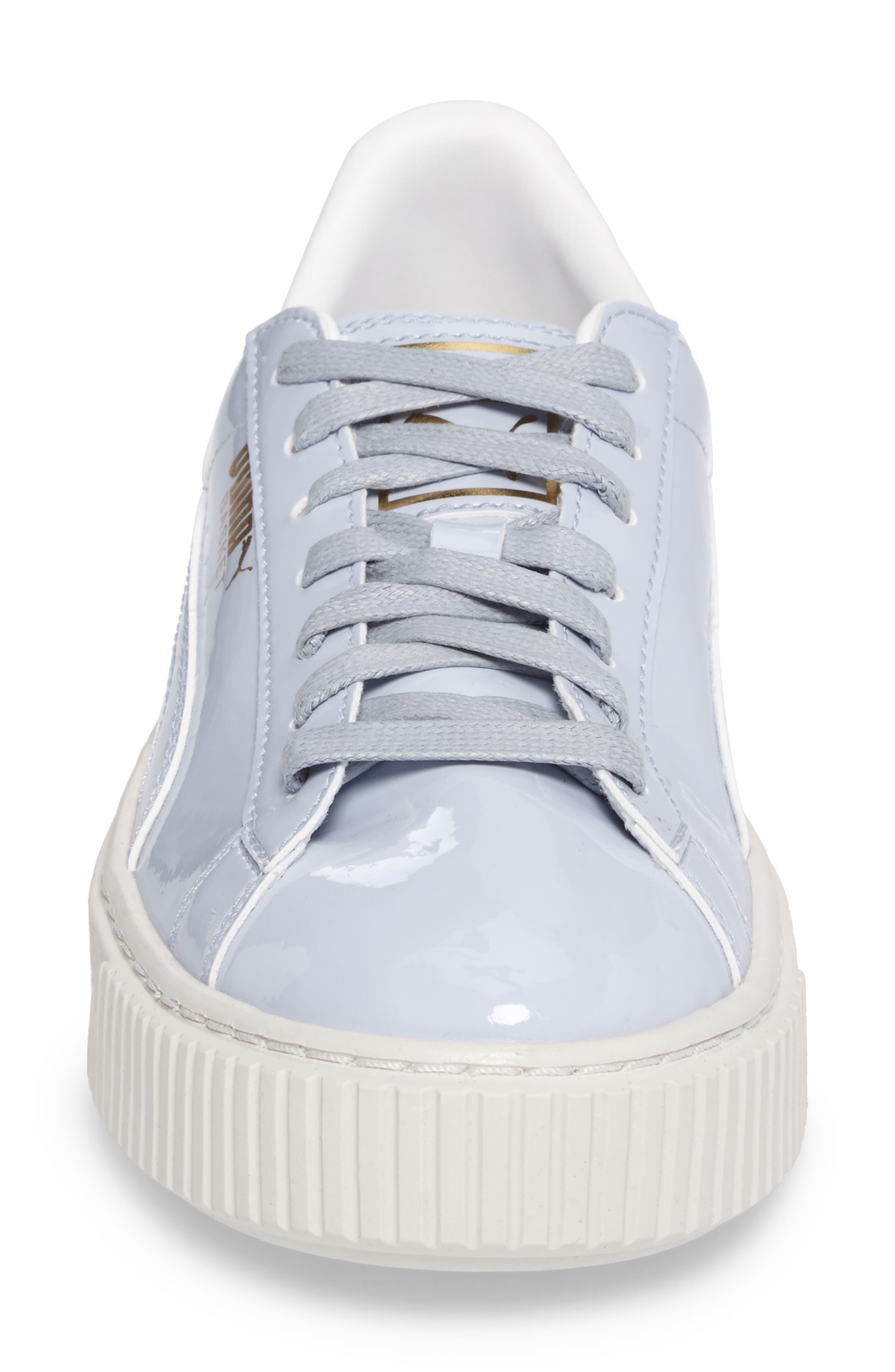 Basket Platform Sneaker,                             Alternate thumbnail 4, color,                             Halogen Blue/ Halogen Blue
