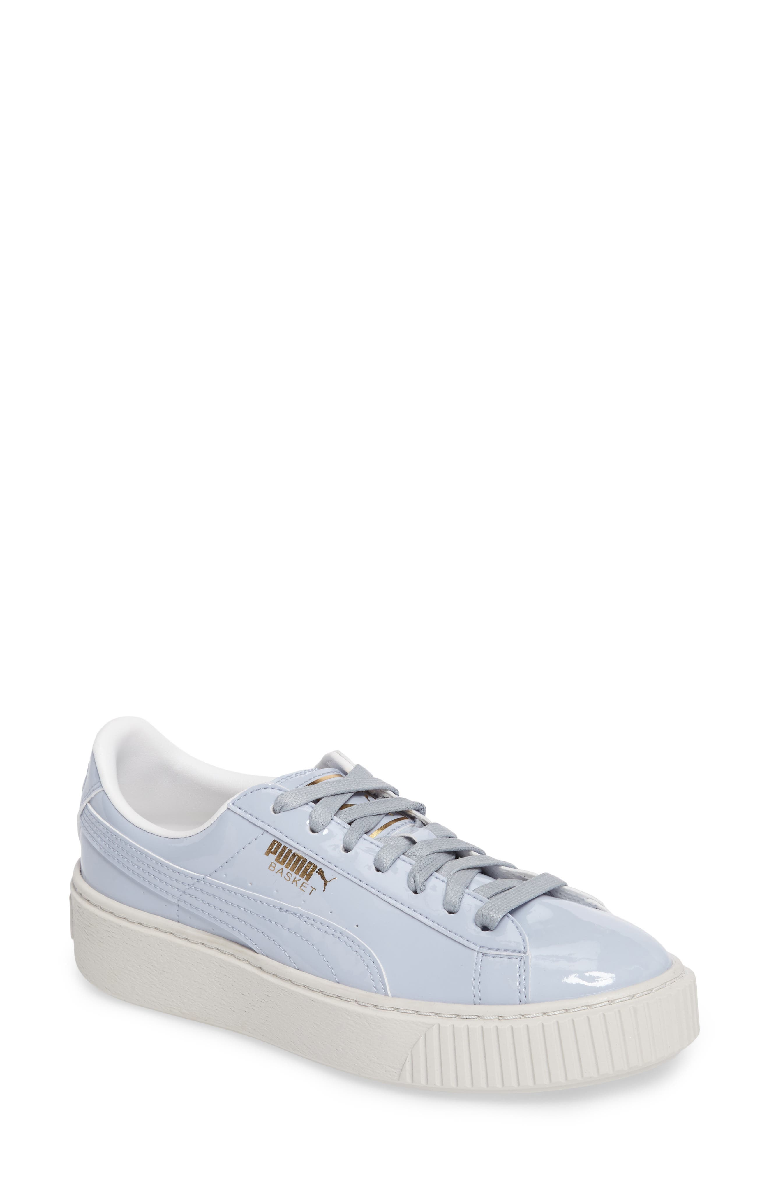 Basket Platform Sneaker,                         Main,                         color, Halogen Blue/ Halogen Blue