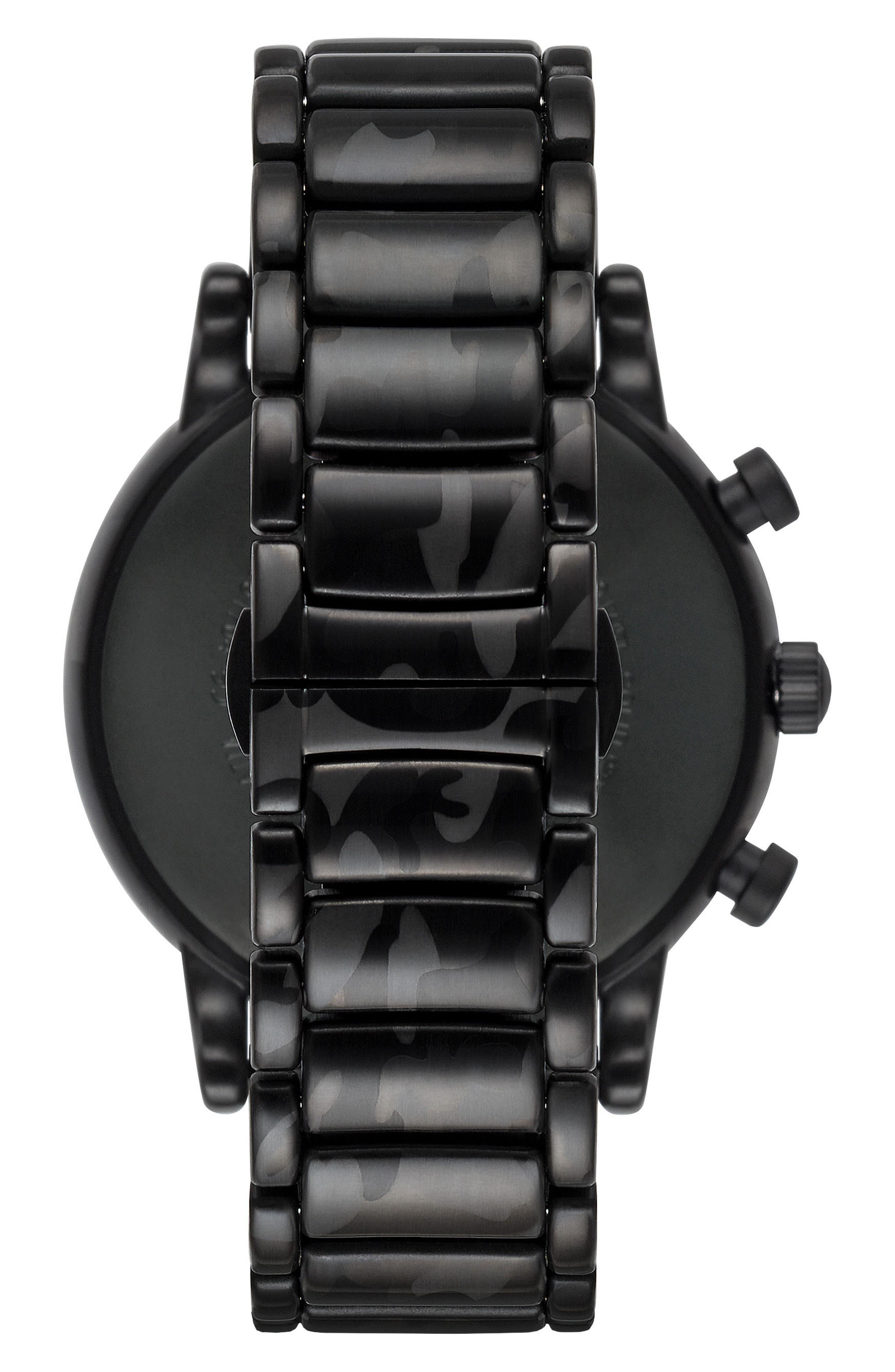 Alternate Image 2  - Emporio Armani Chronograph Bracelet Watch, 46mm