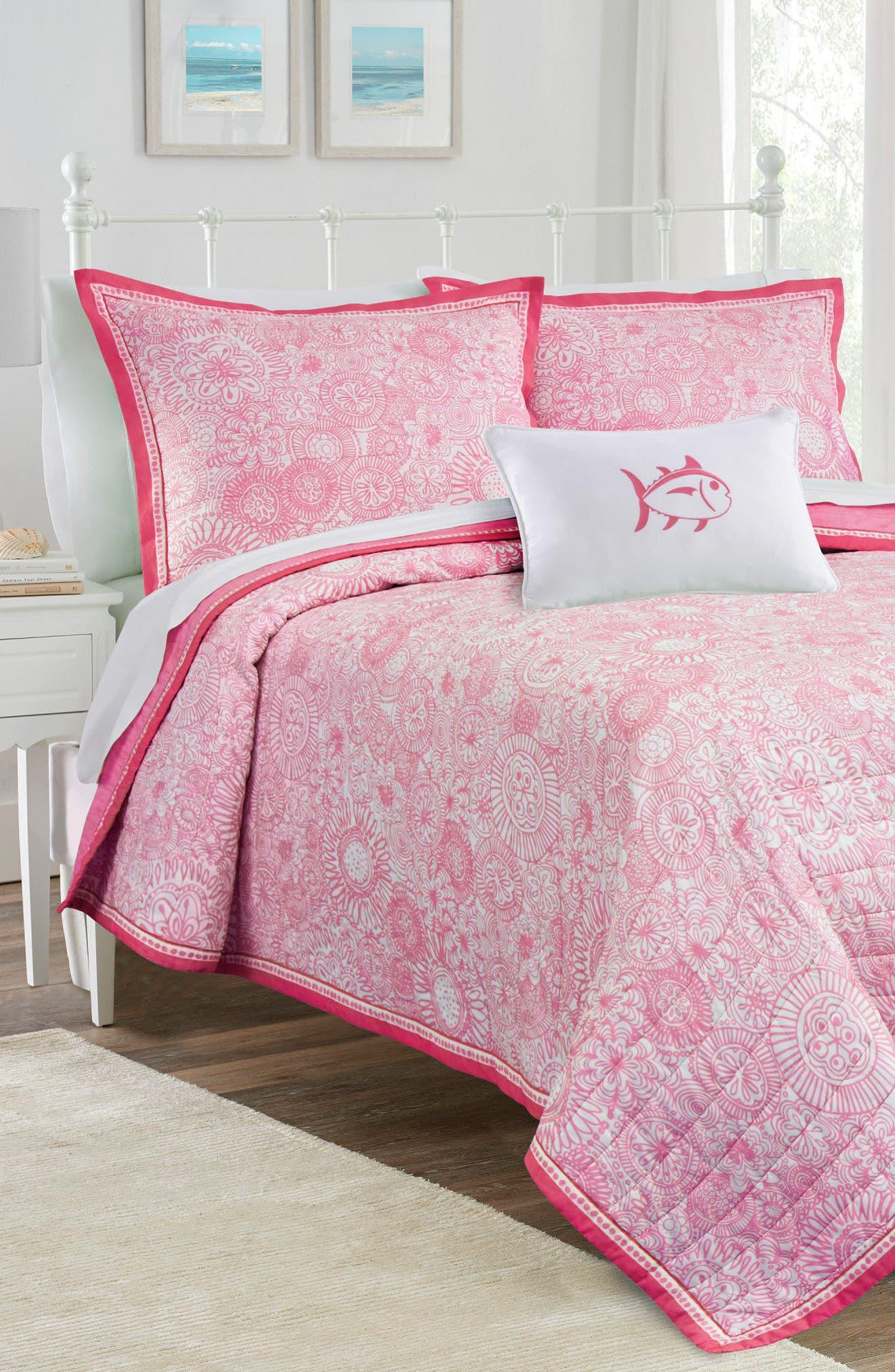 Seapine Quilt,                             Main thumbnail 1, color,                             Lemonade Pink