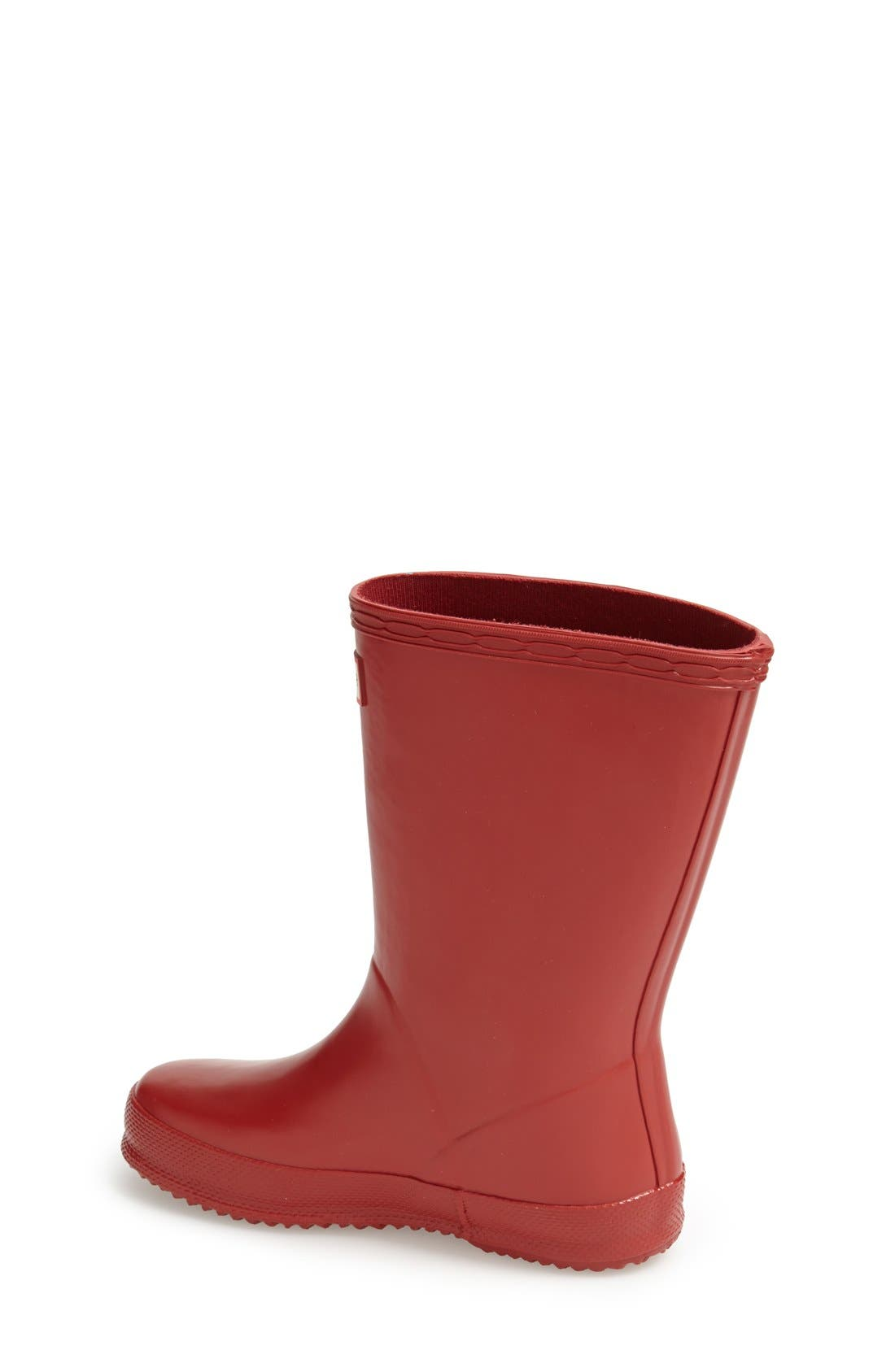 'First Classic' Rain Boot,                             Alternate thumbnail 2, color,                             Military Red