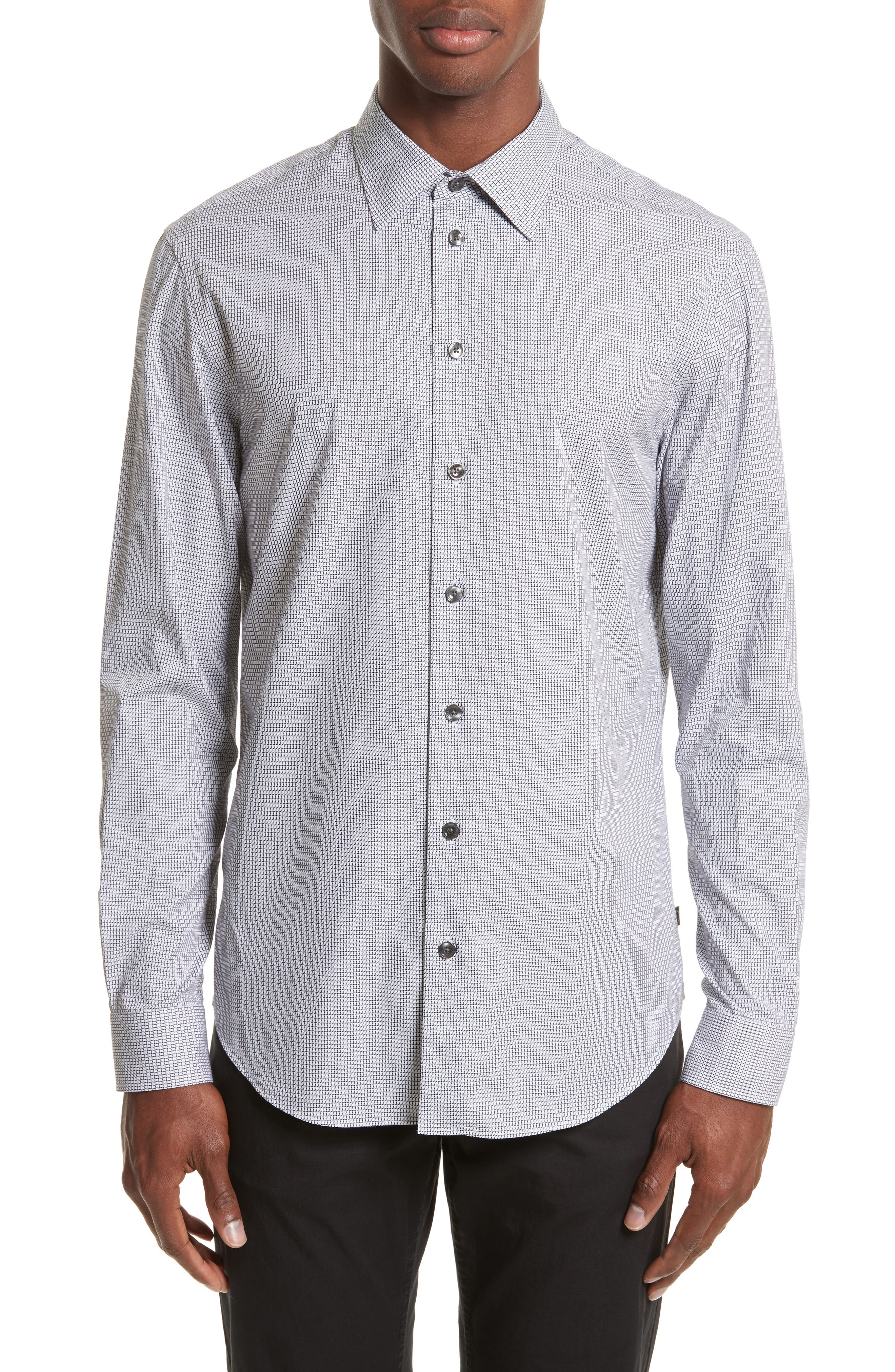 Armani Collezioni Regular Fit Check Sport Shirt