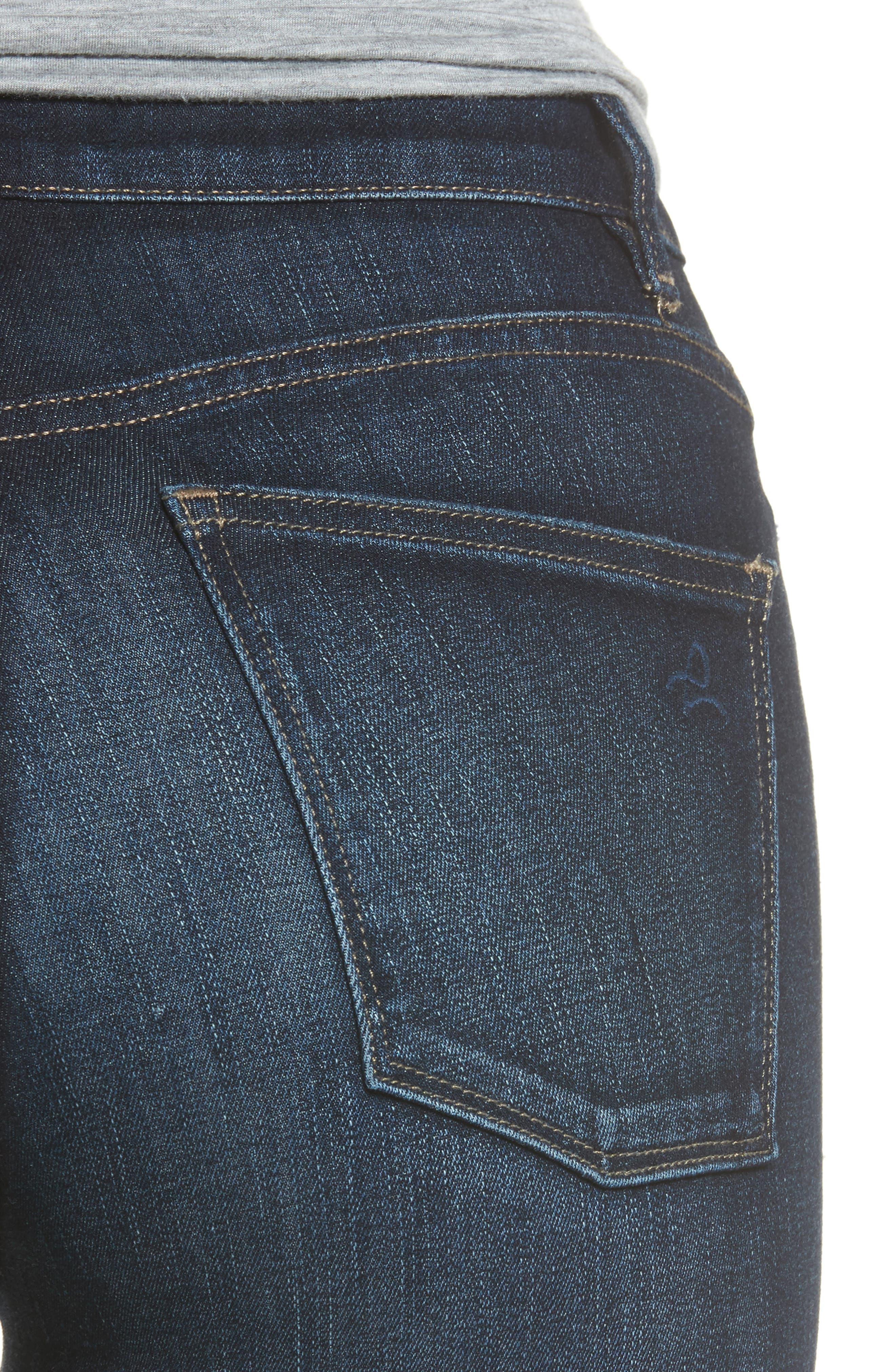 Chrissy High Waist Crop Skinny Jeans,                             Alternate thumbnail 4, color,                             Trinity