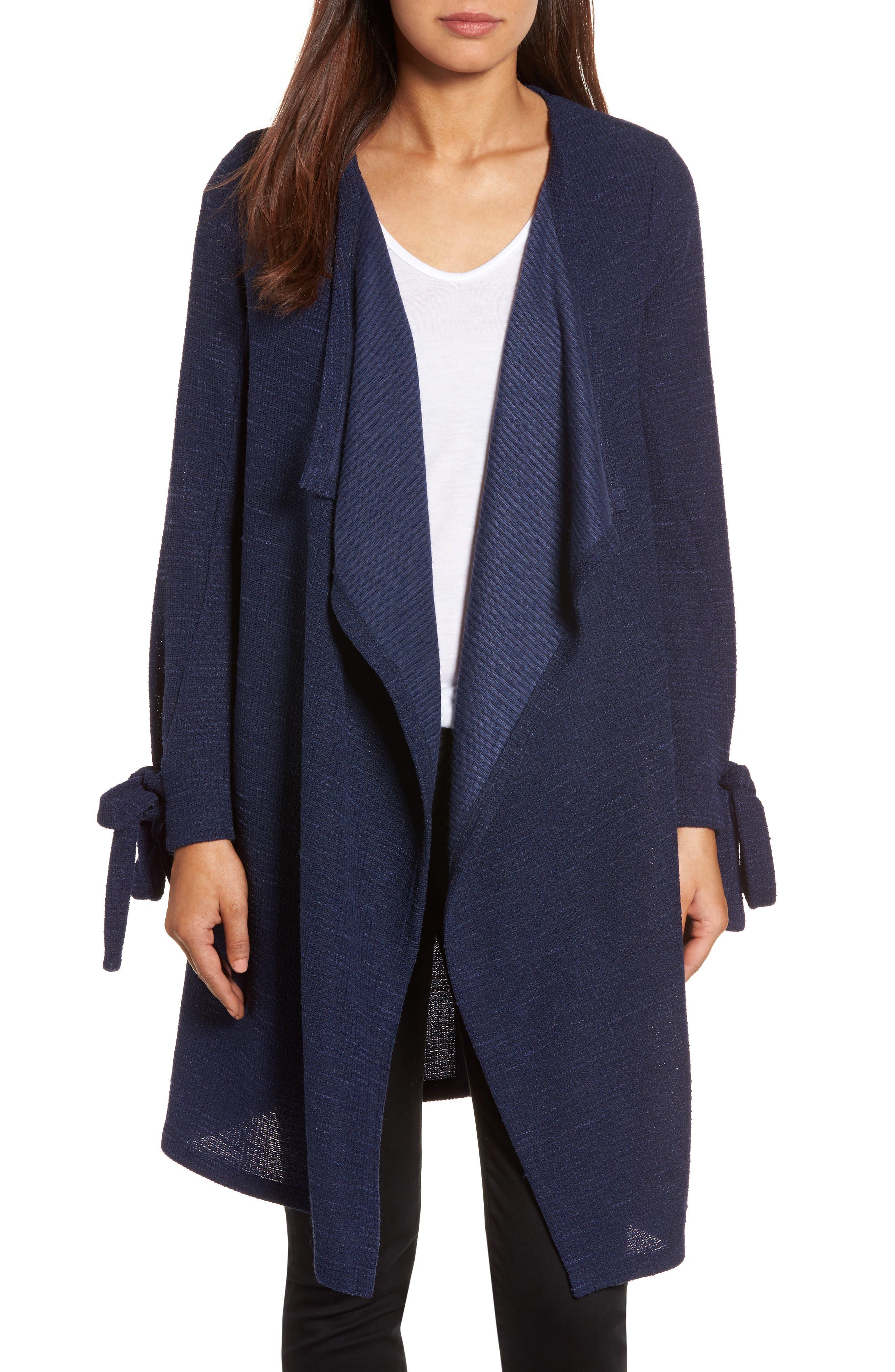Pleione Tie Sleeve Long Cardigan (Regular & Petite)