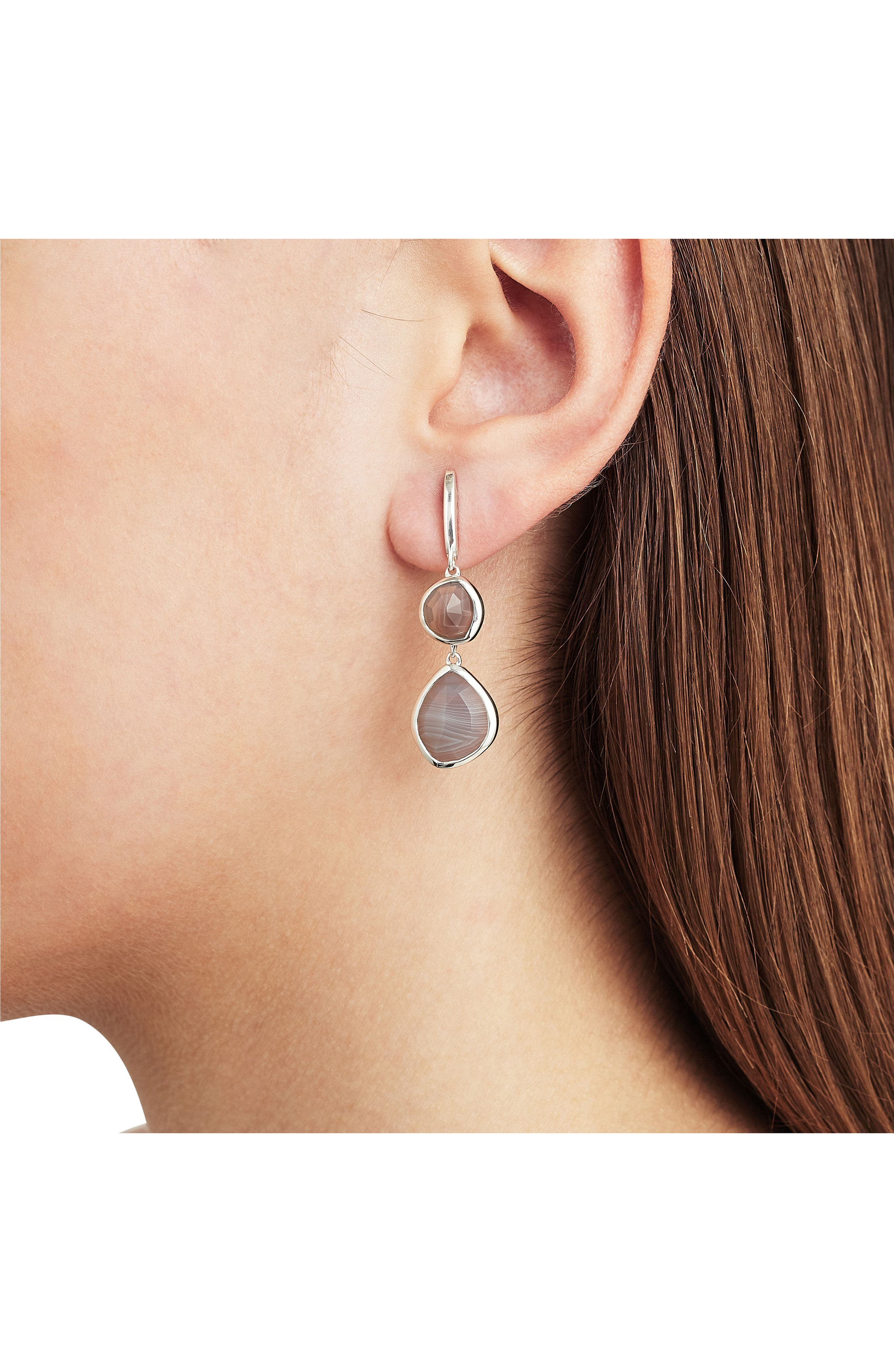 Alternate Image 2  - Monica Vinader Siren Nugget Semiprecious Stone Drop Earrings