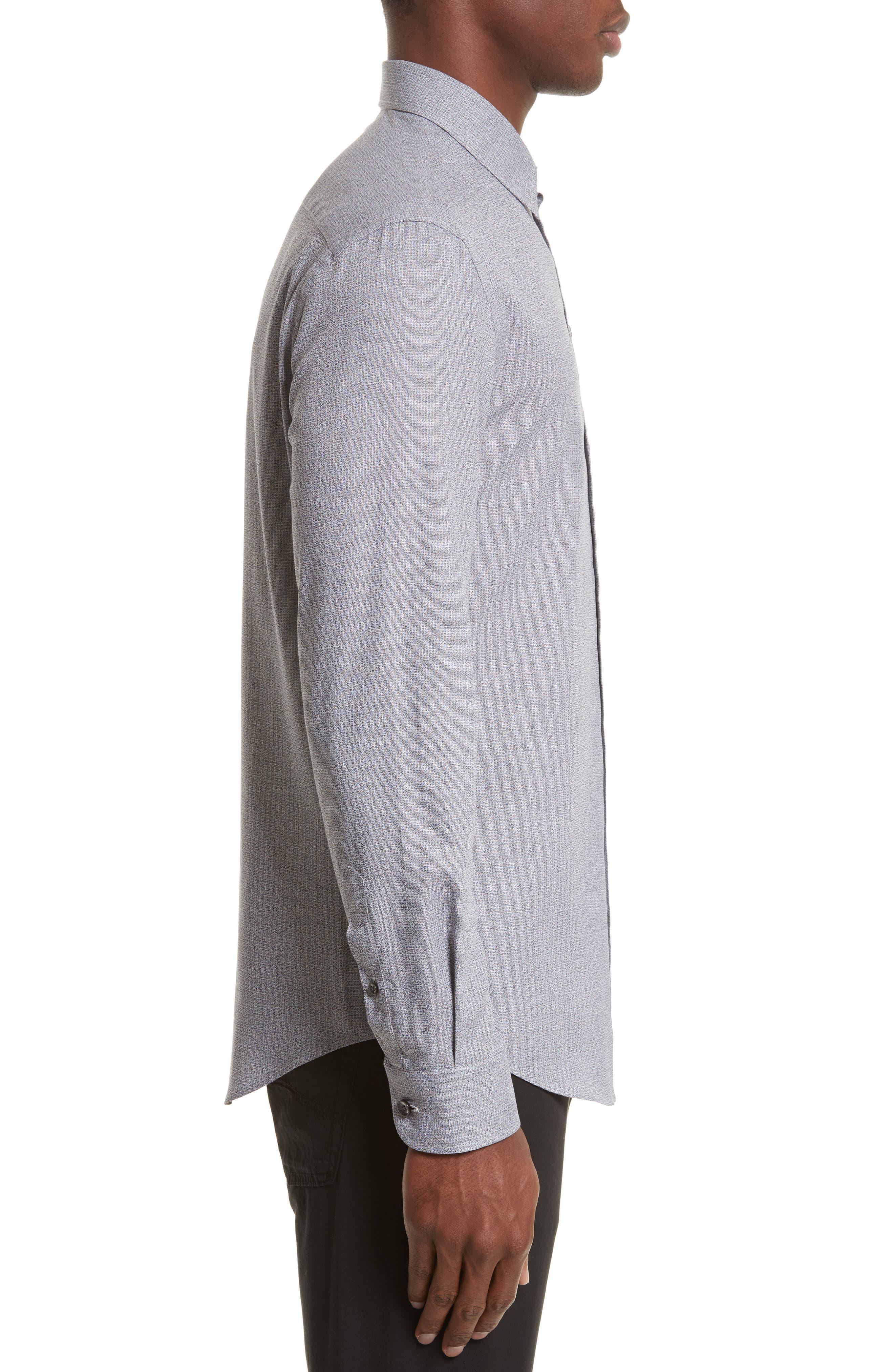Alternate Image 3  - Armani Collezioni Textured Sport Shirt