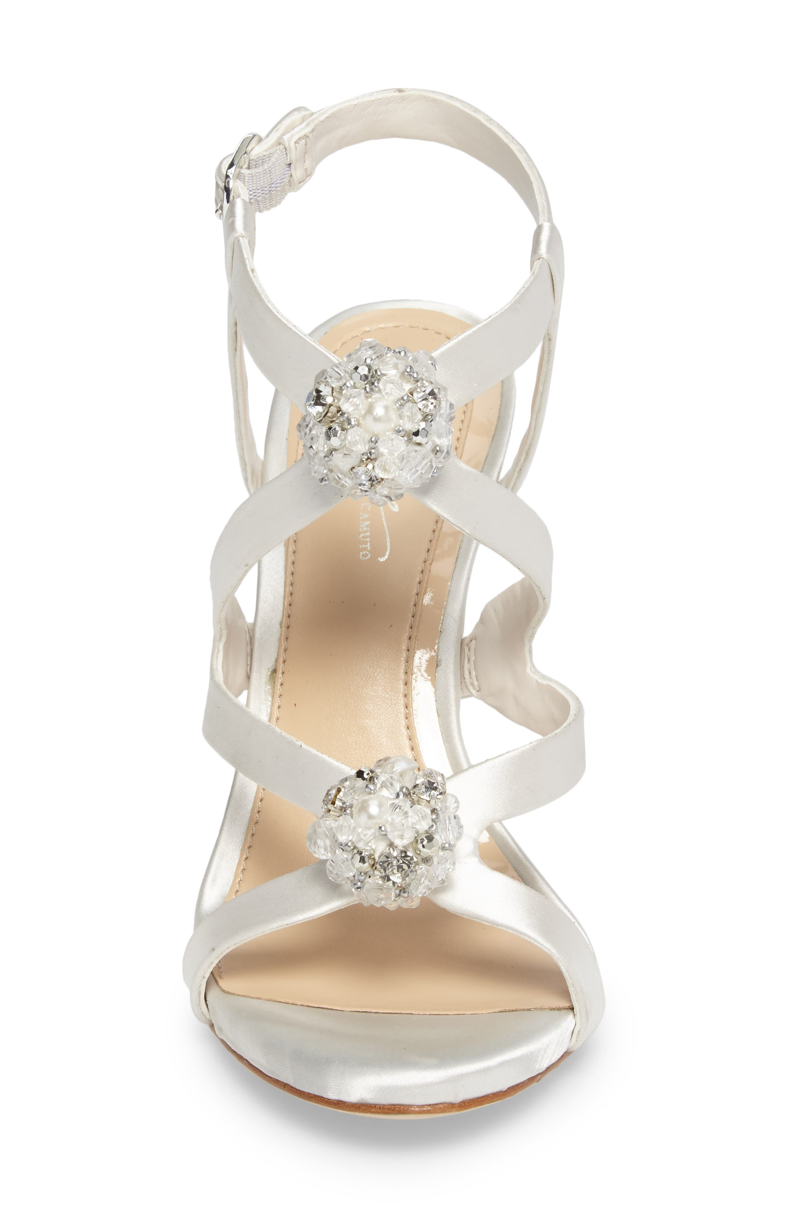 Daija Sandal,                             Alternate thumbnail 4, color,                             Ivory Satin