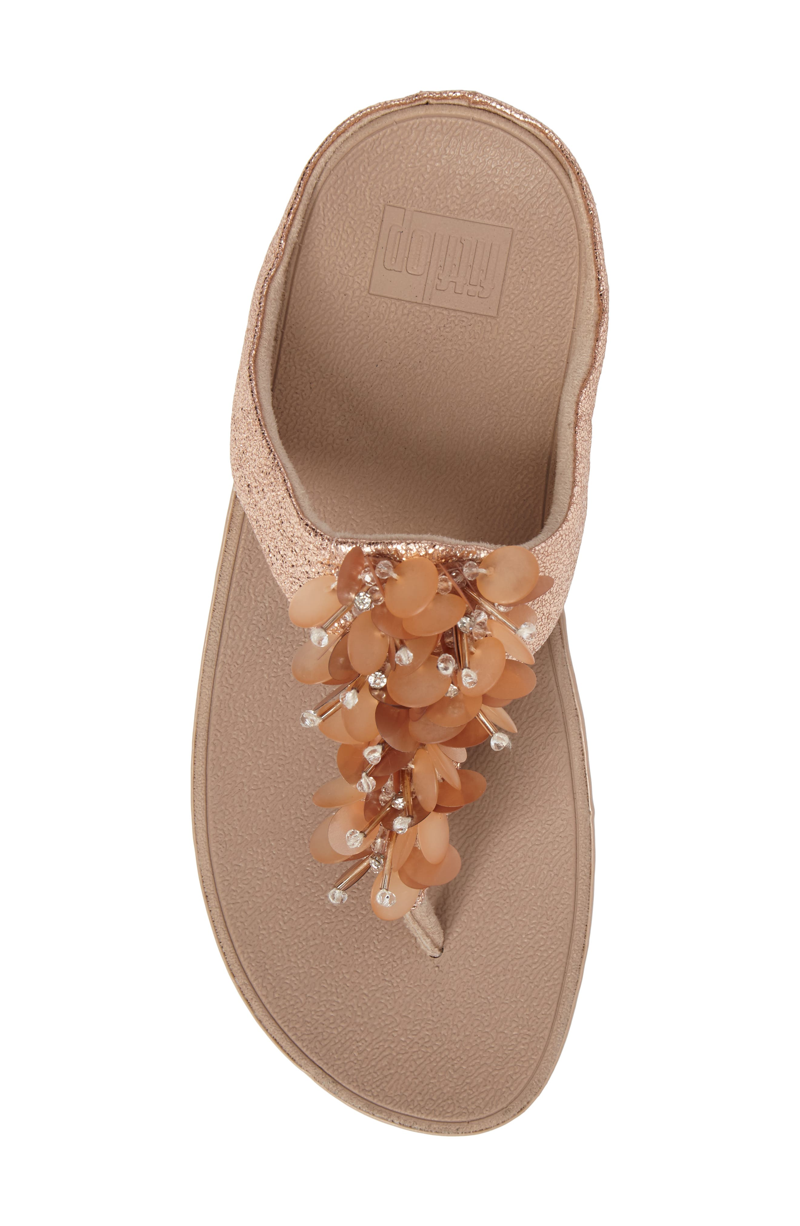 Boogaloo Sandal,                             Alternate thumbnail 5, color,                             Rose Gold Leather