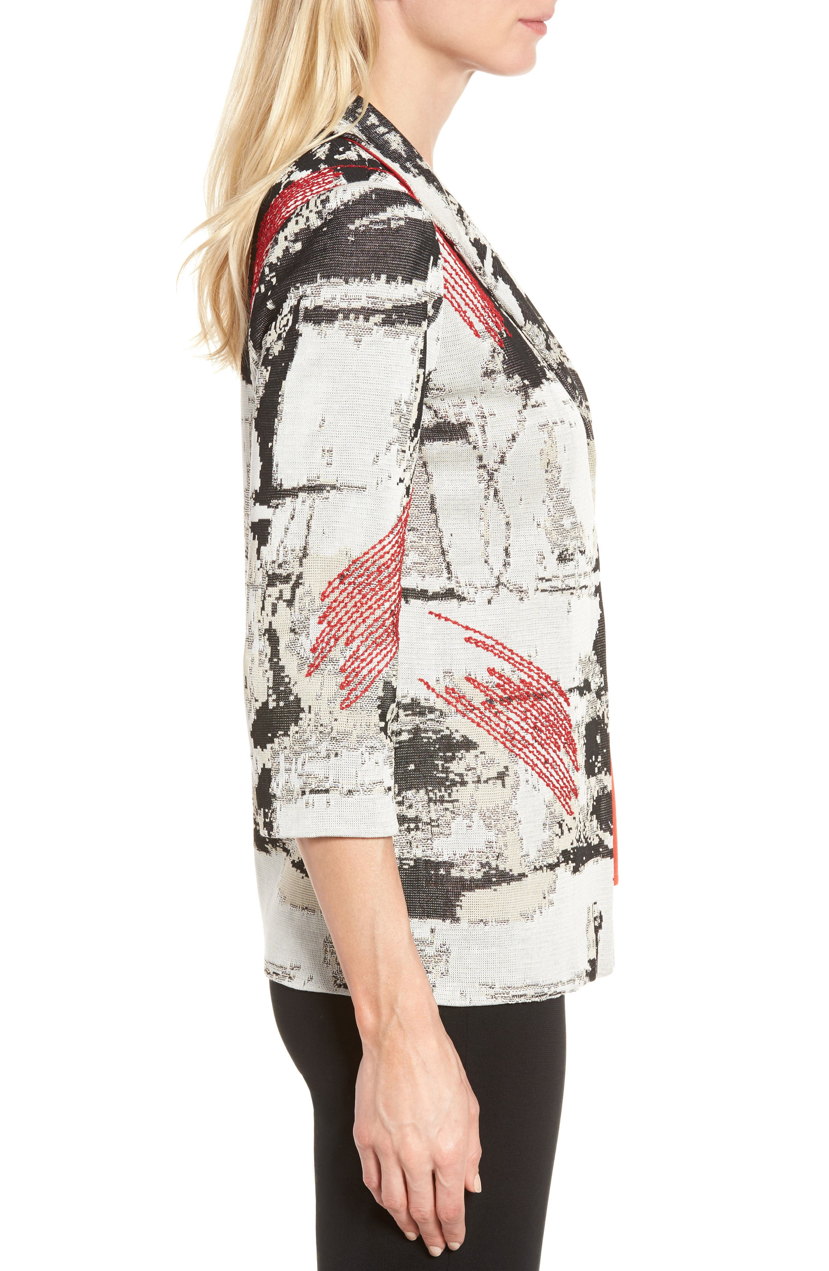 Alternate Image 3  - Ming Wang Three-Quarter Sleeve Jacket