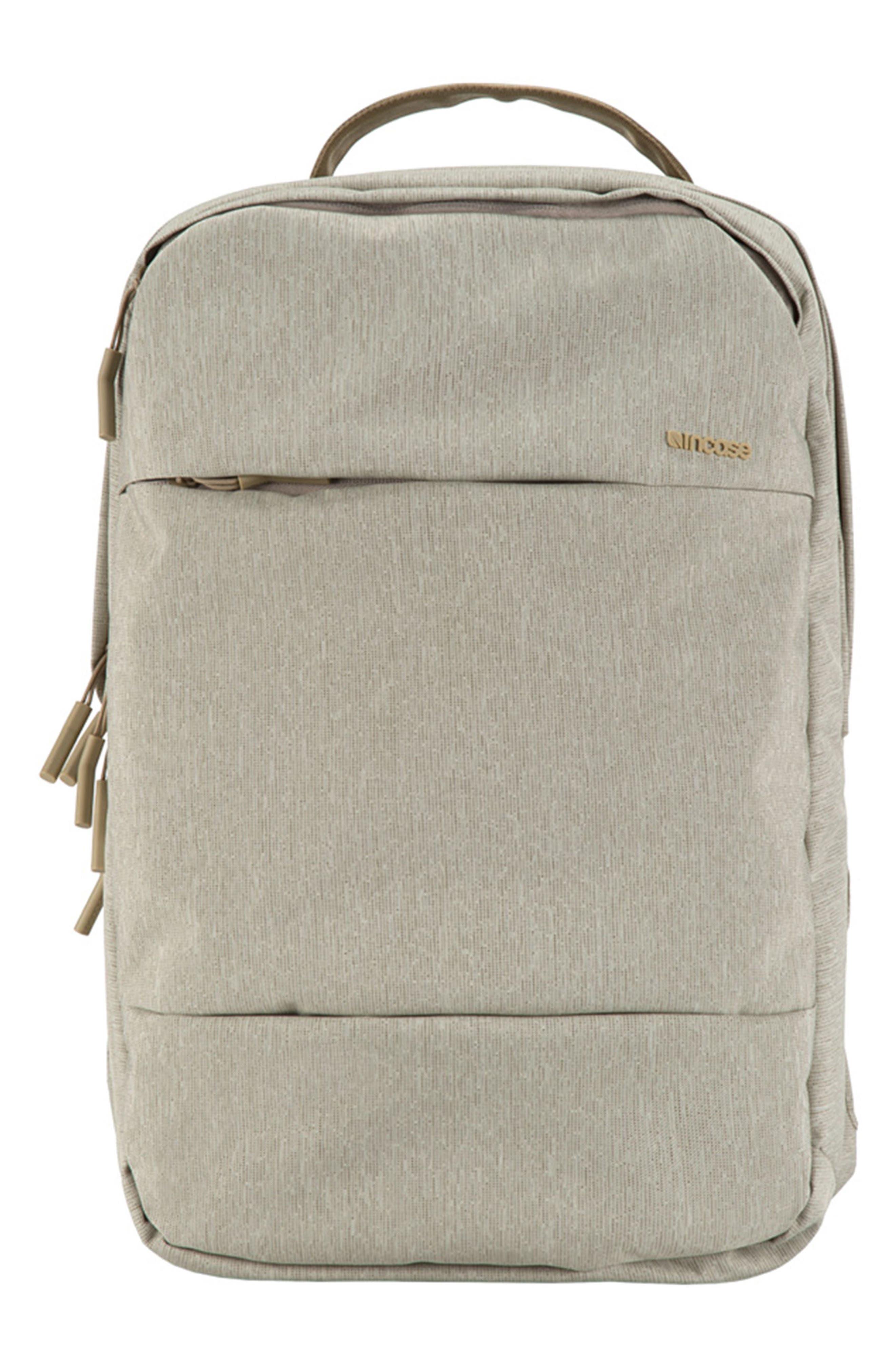City Backpack,                         Main,                         color, Heather Khaki